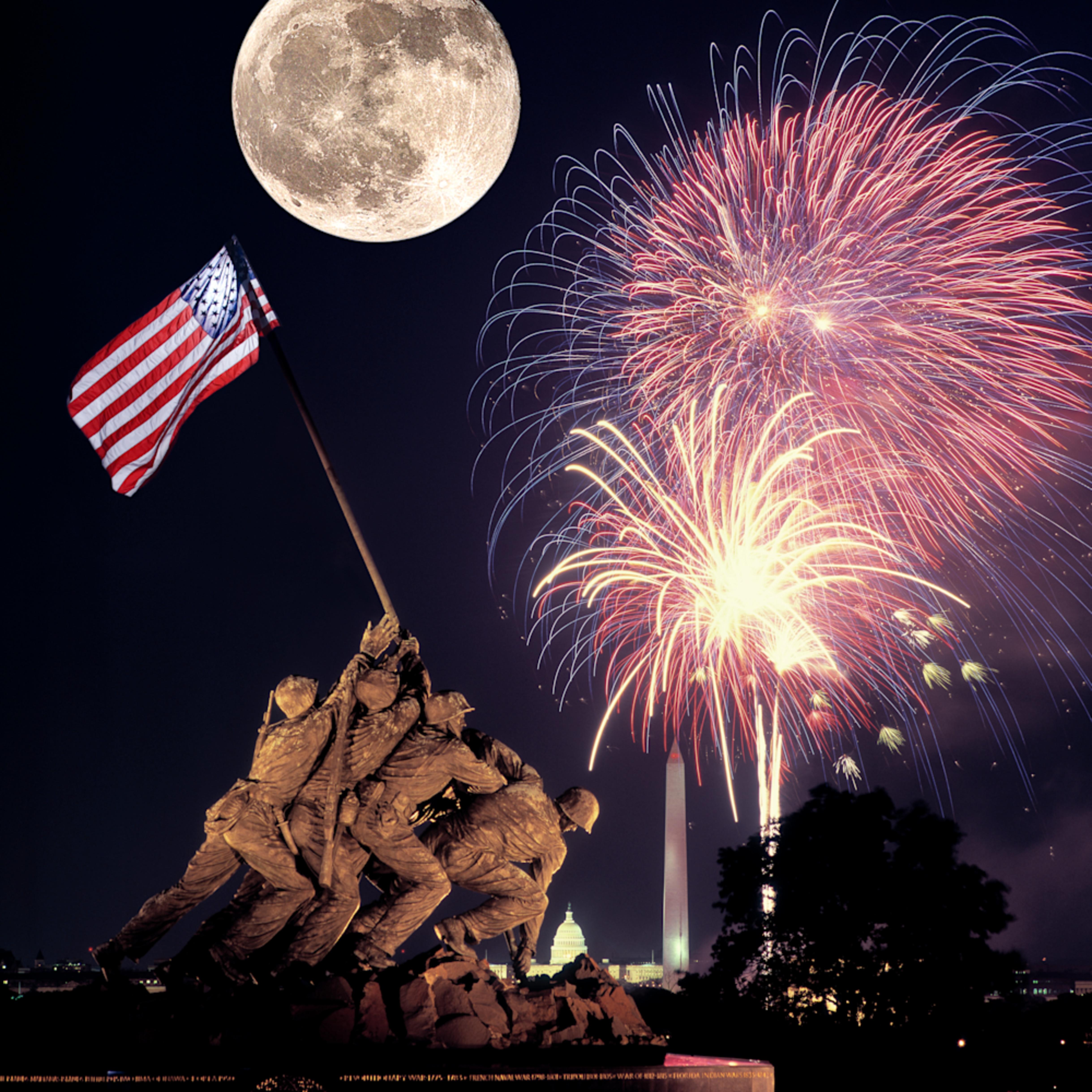 Iwo jima fireworks moon v8a9yn