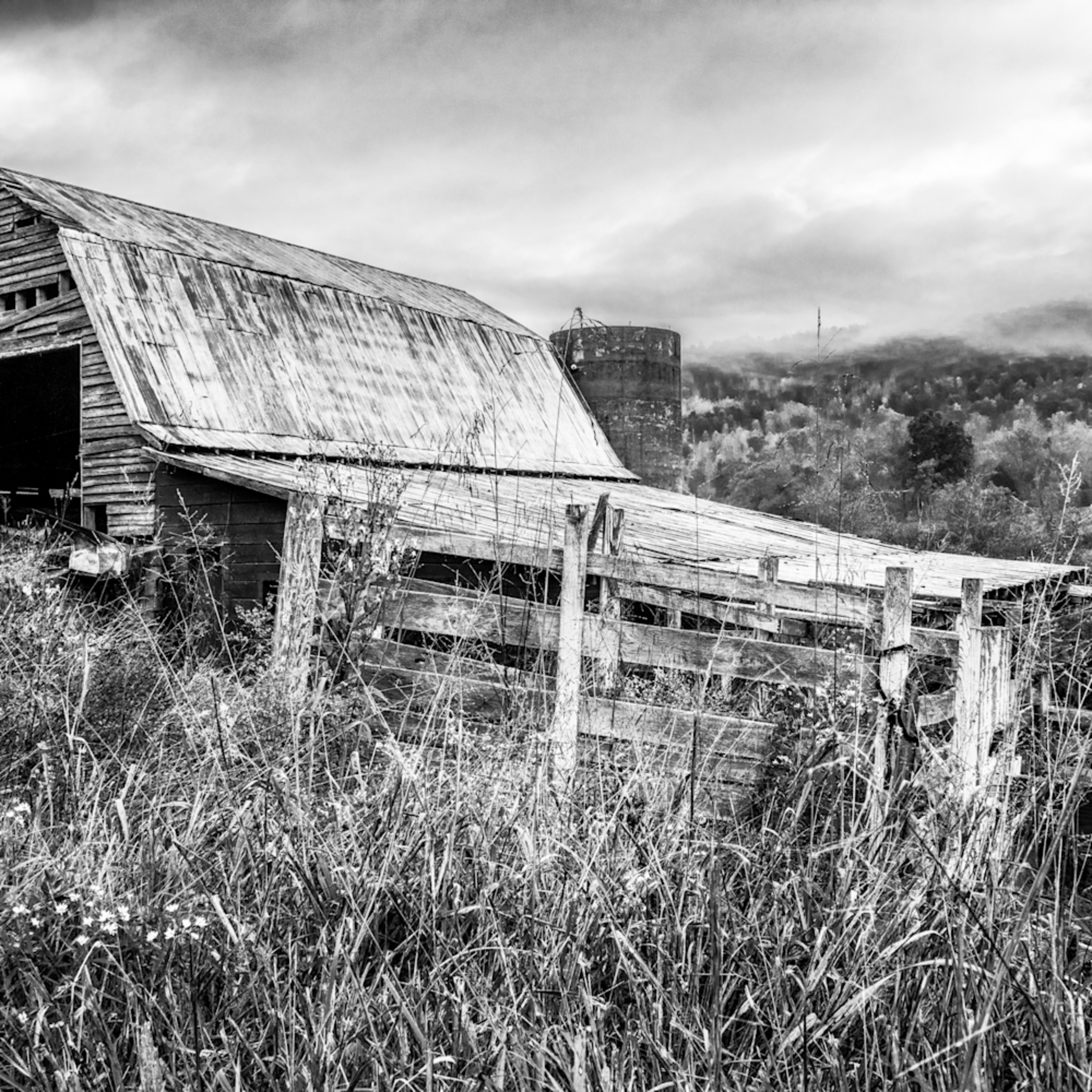 Andy crawford photography old smoky mountains barn b w a1vxyu