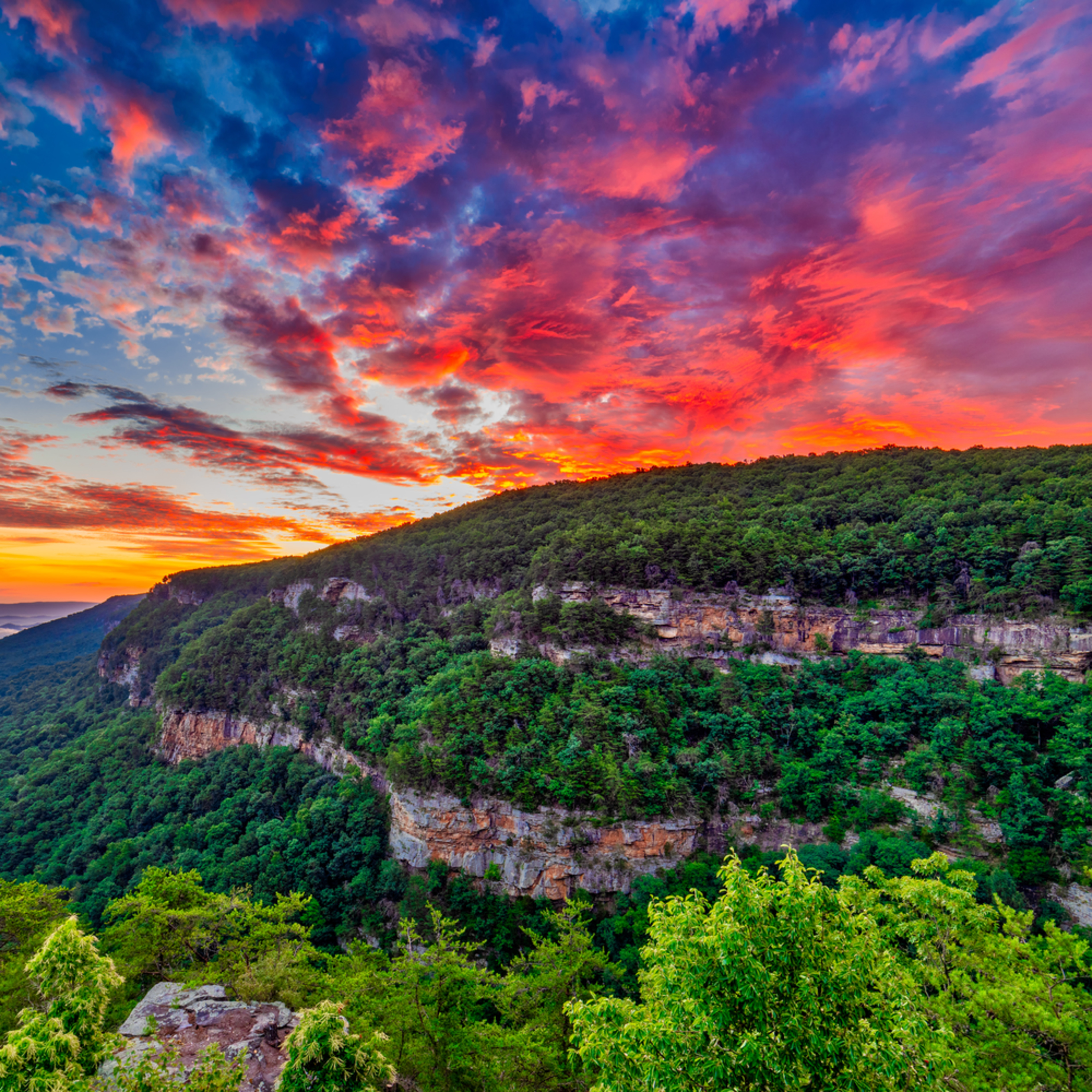 Andy crawford photography sand mountain sunrise cloudland canyon s1suqj