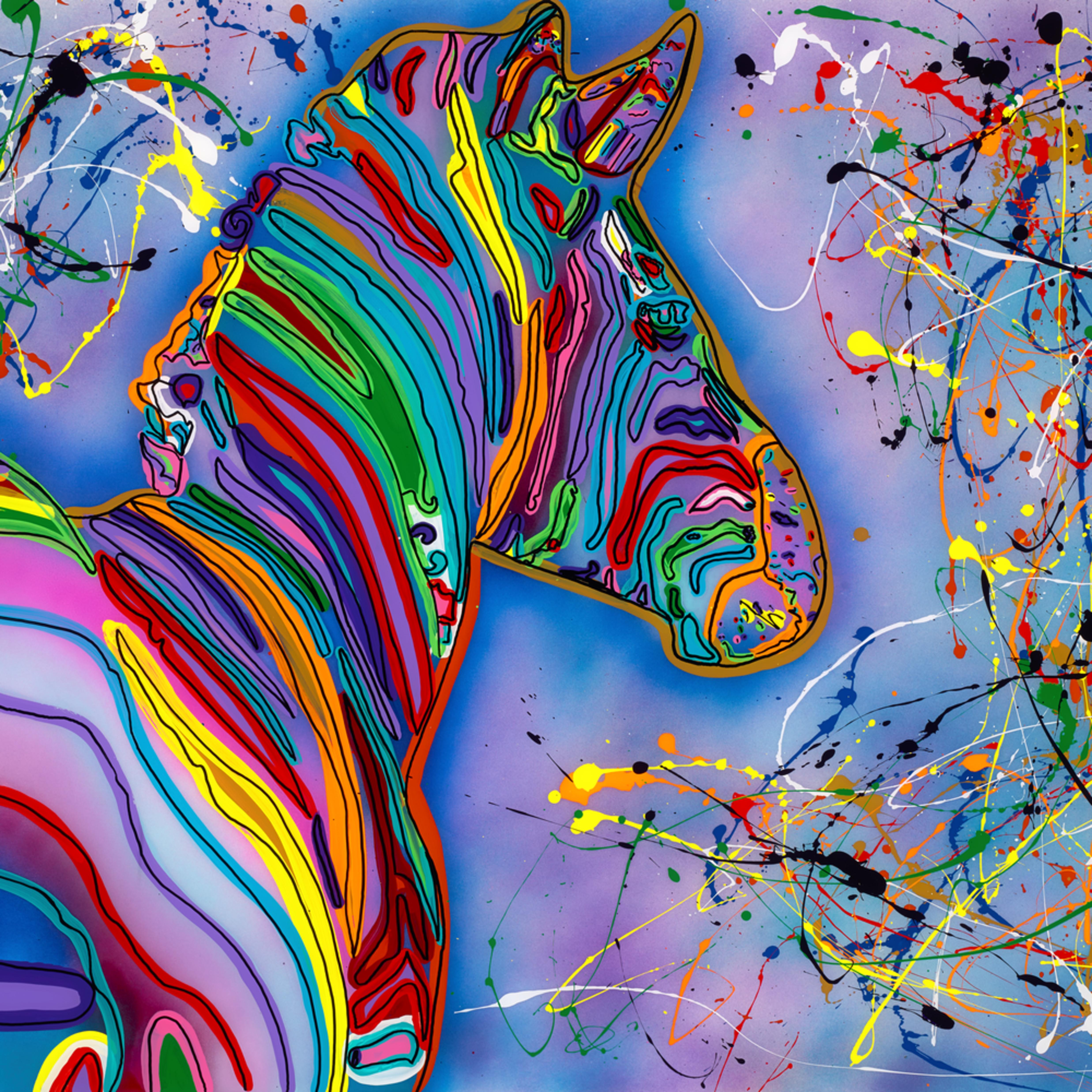 Zebra in color z03d9j