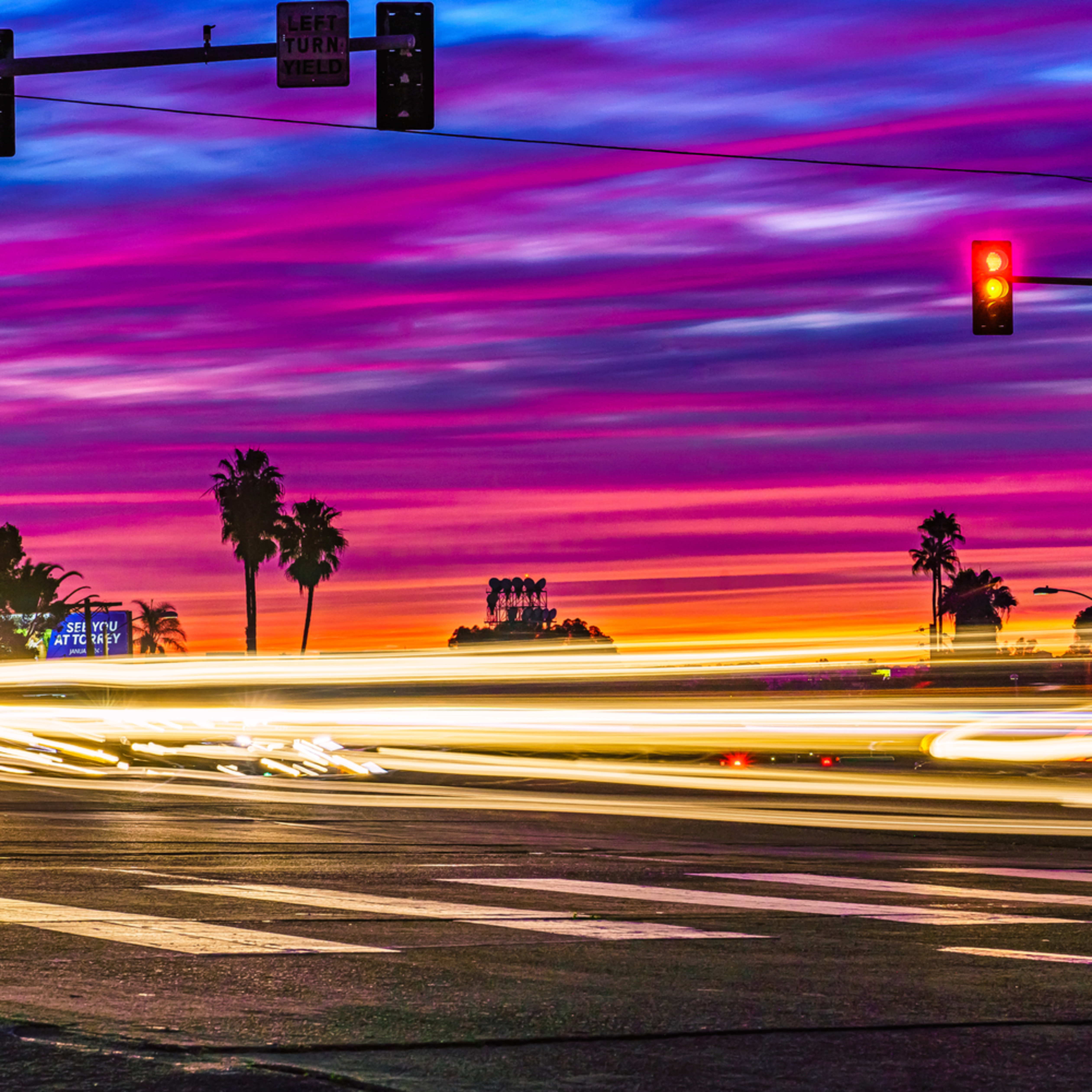 Normal street university heights cars passing sunset light streaks w1zoxz