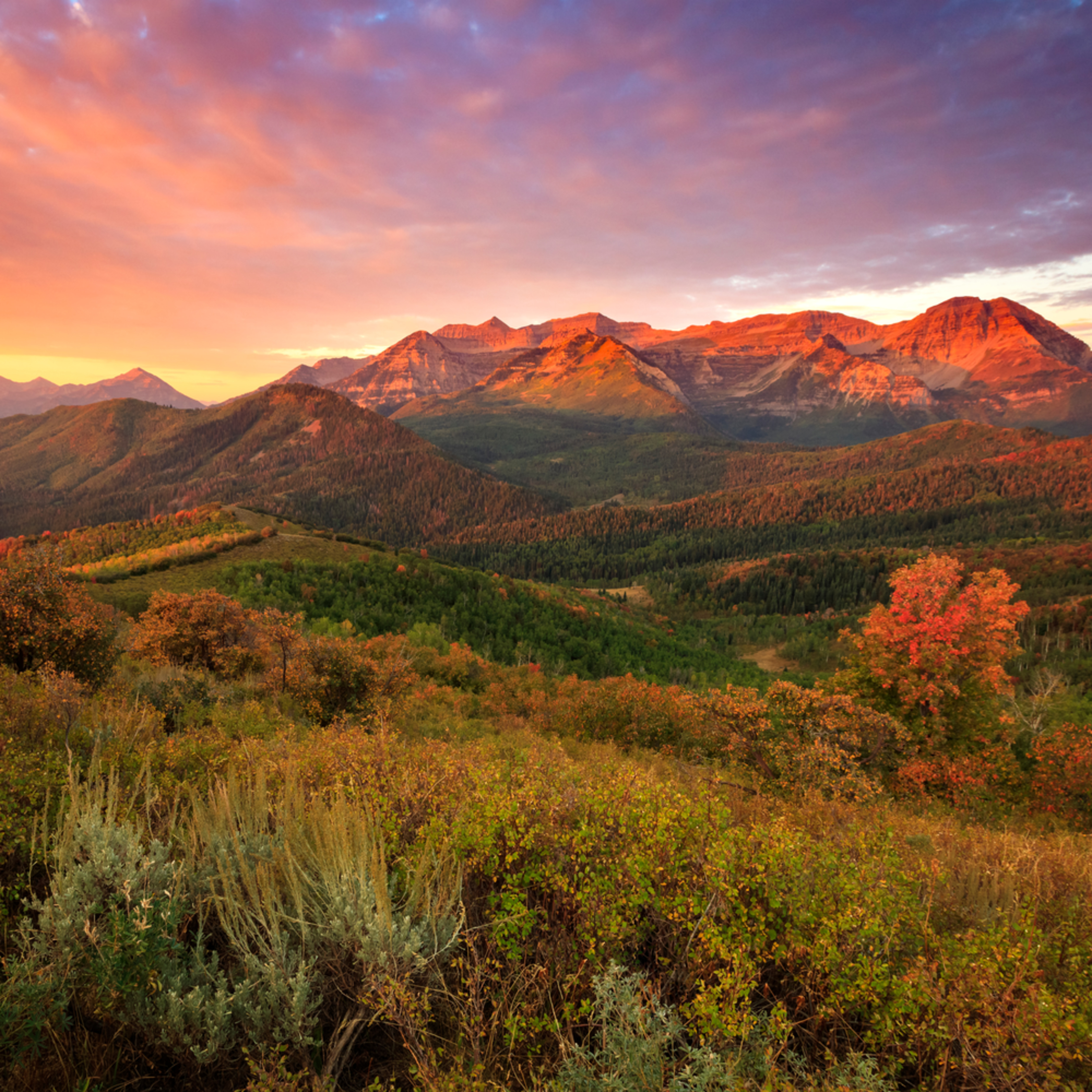 Fall sunrise in the wasatch back npdlhg
