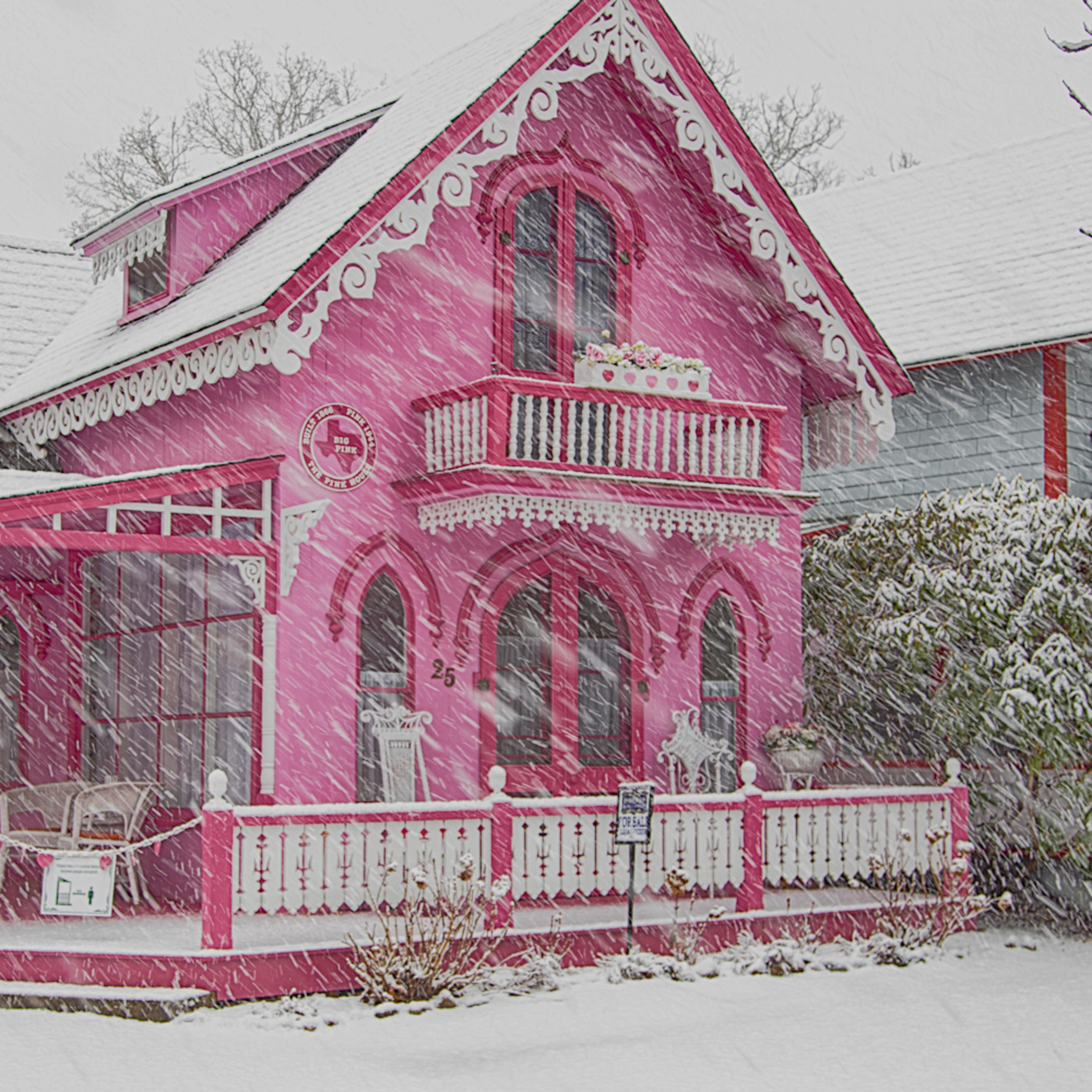 Pink house snow x05x6u