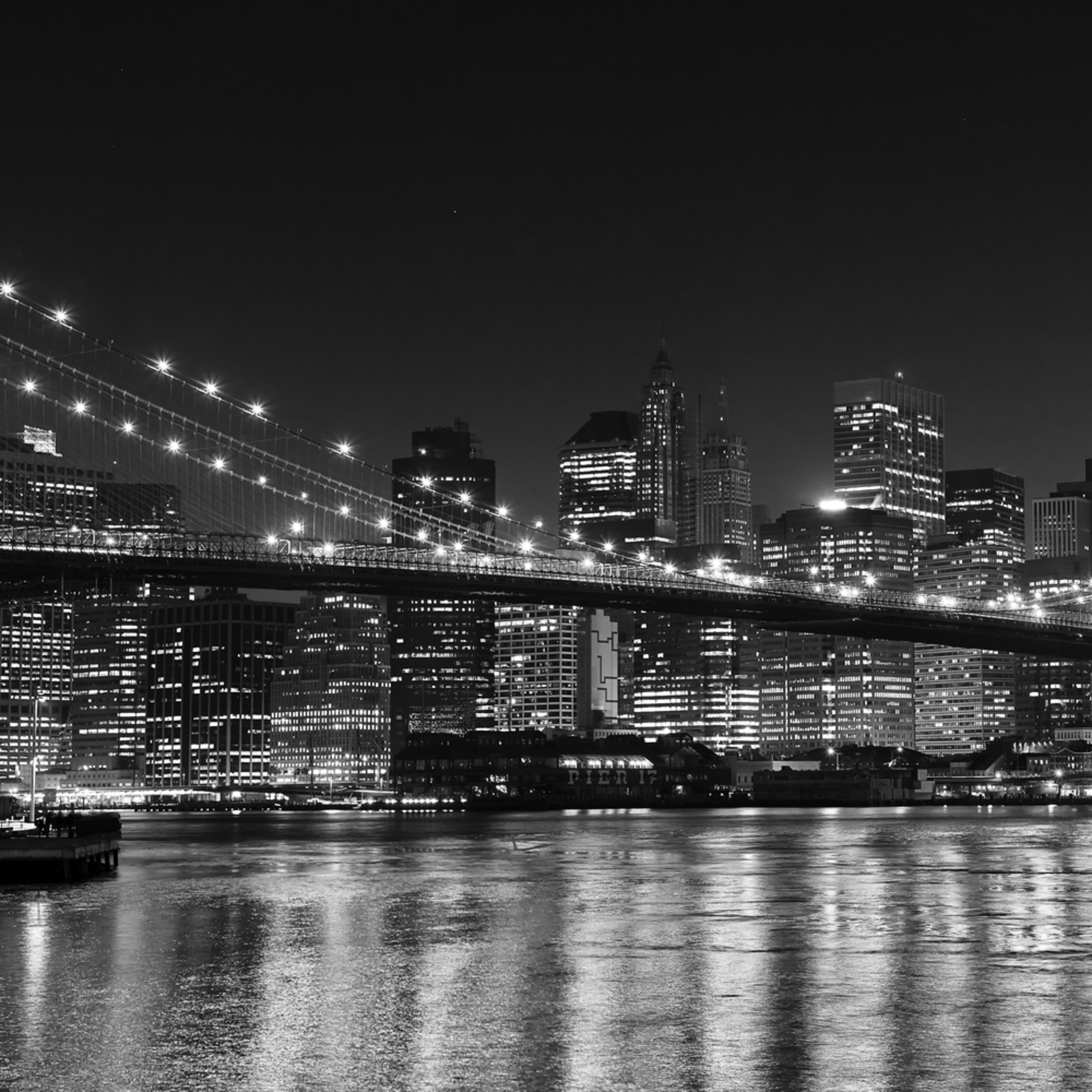 Brooklyn bridge panorama 2 bw spudfj