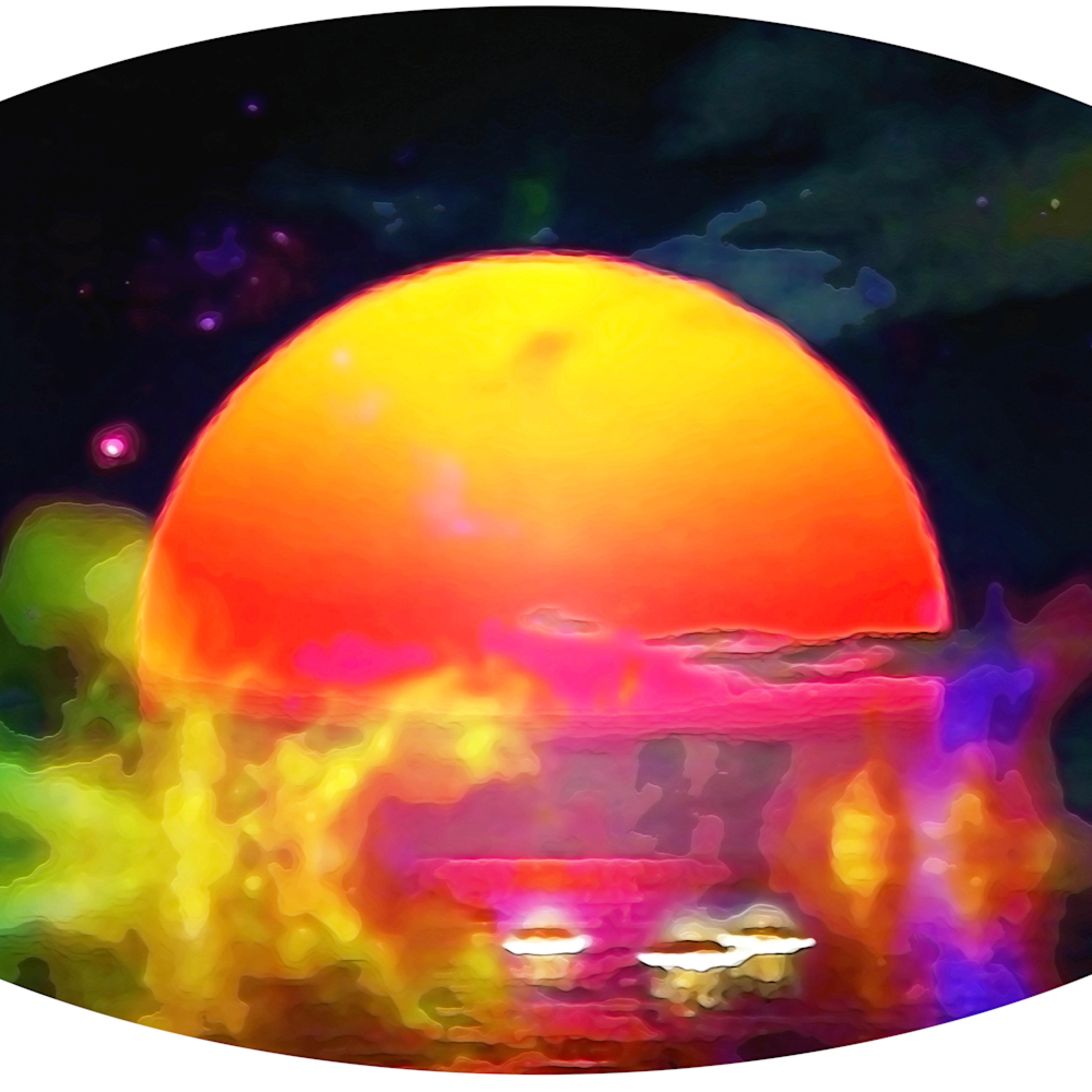 Merch auto 7 orange moon rise qngqnc