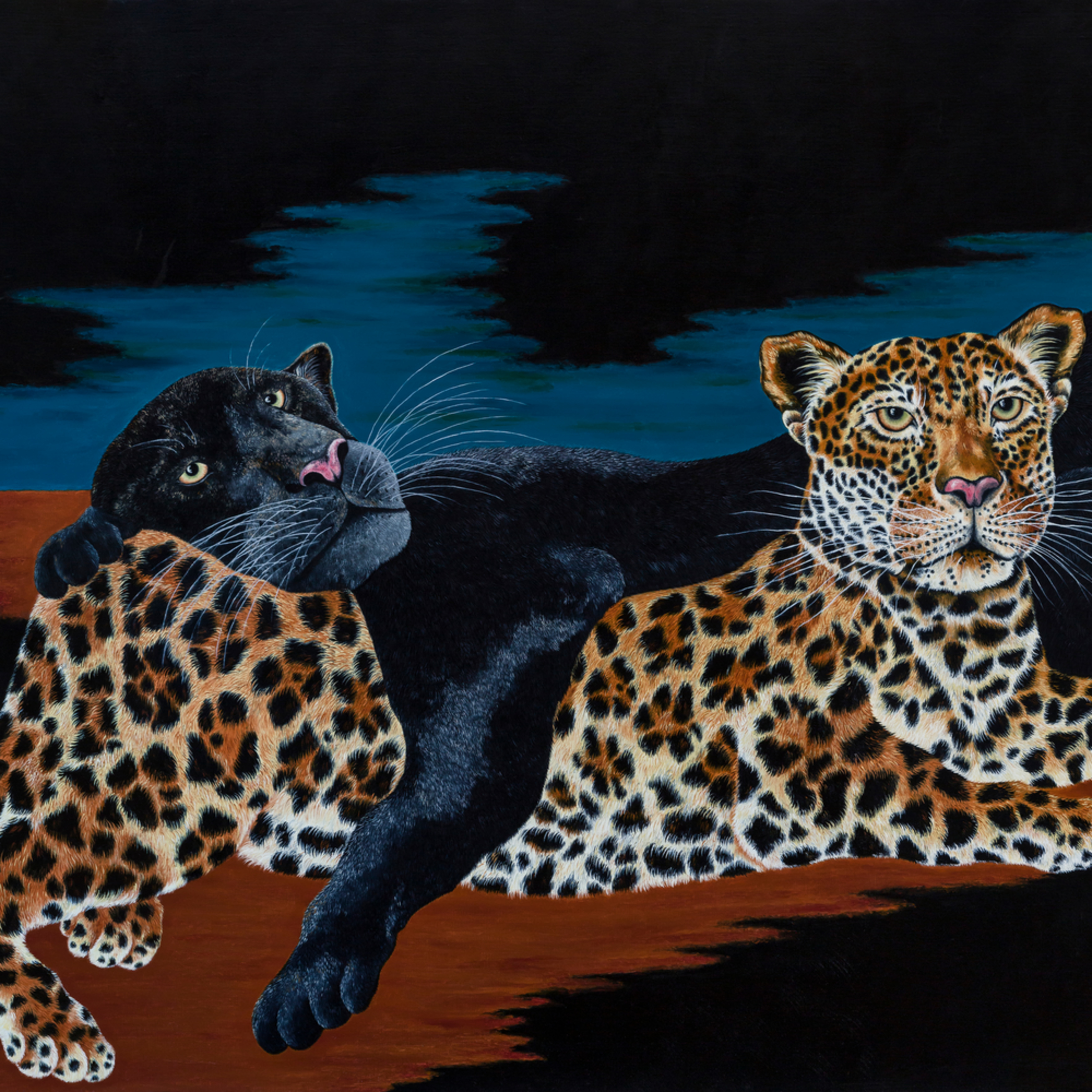 Cats  17 x 36 large piqwdc
