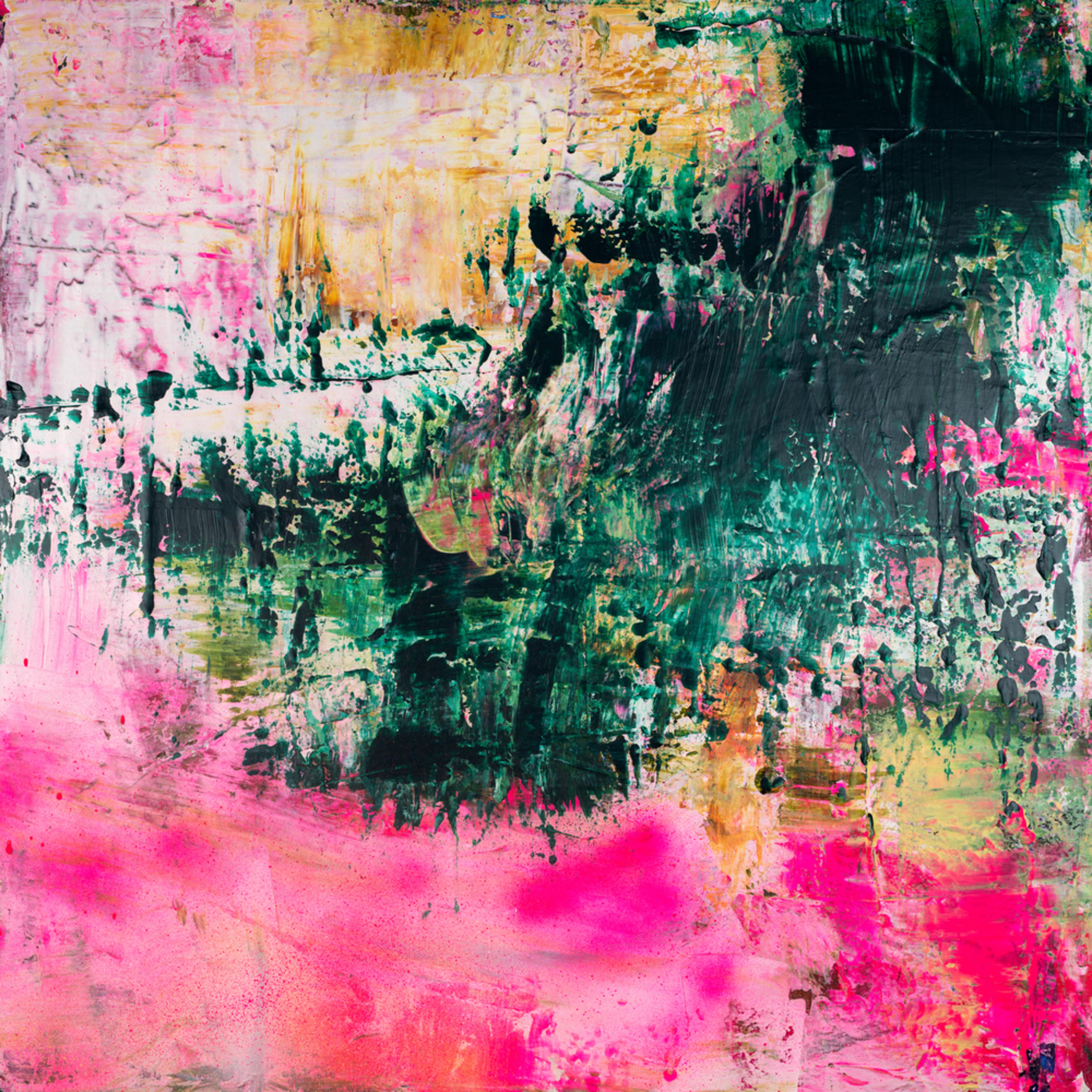 Eadaoin glynn 2020 i lie beneath her soft petals pink against my cheek acrylic spray paint on canvas 100x100cm 2020 high res ipodfu