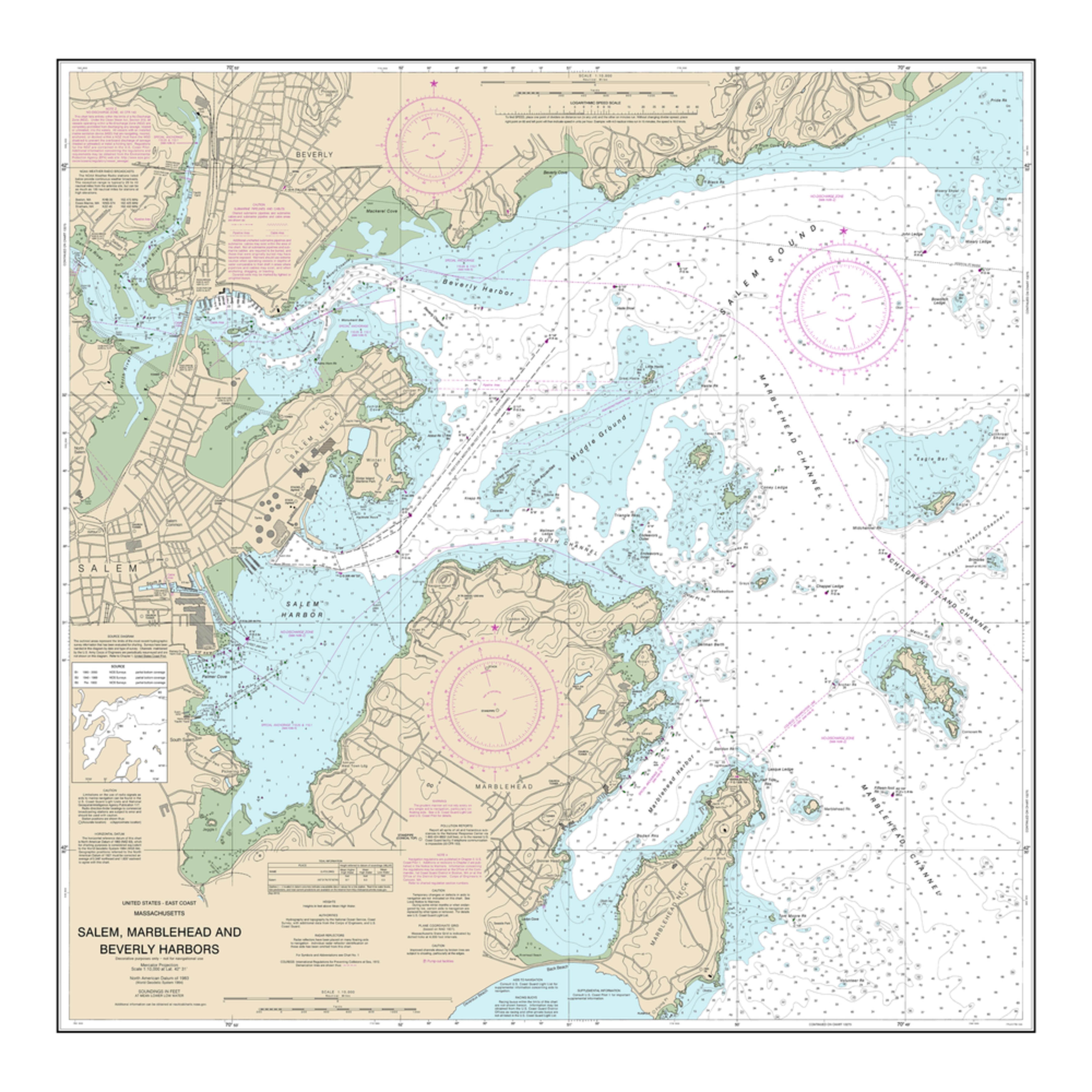 Nauticalmap 13276 salem marblehead beverly harbors xgmbet