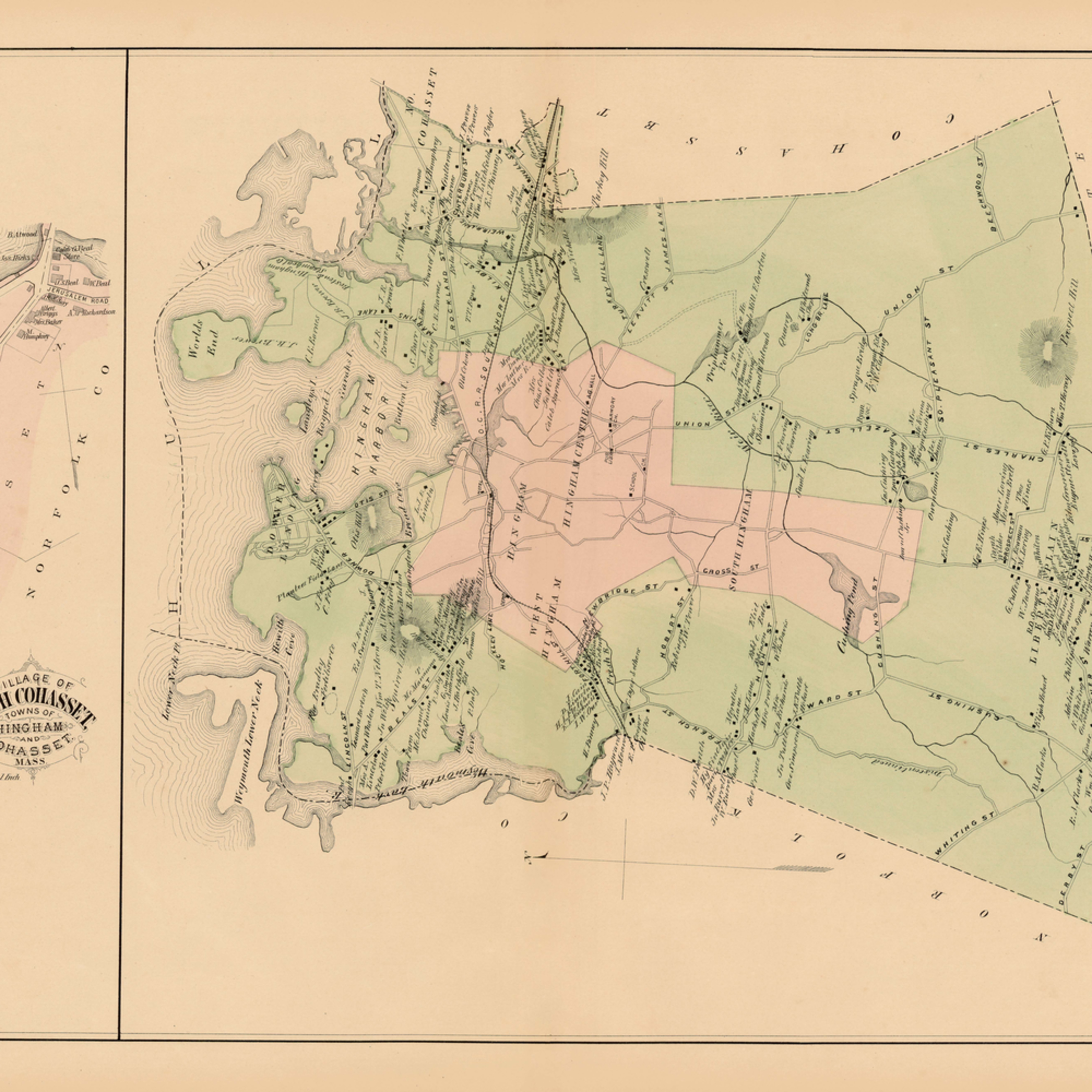 026 p79 higham town north cohasset village1879plate34 35 17.5x28 32 qcrgxr