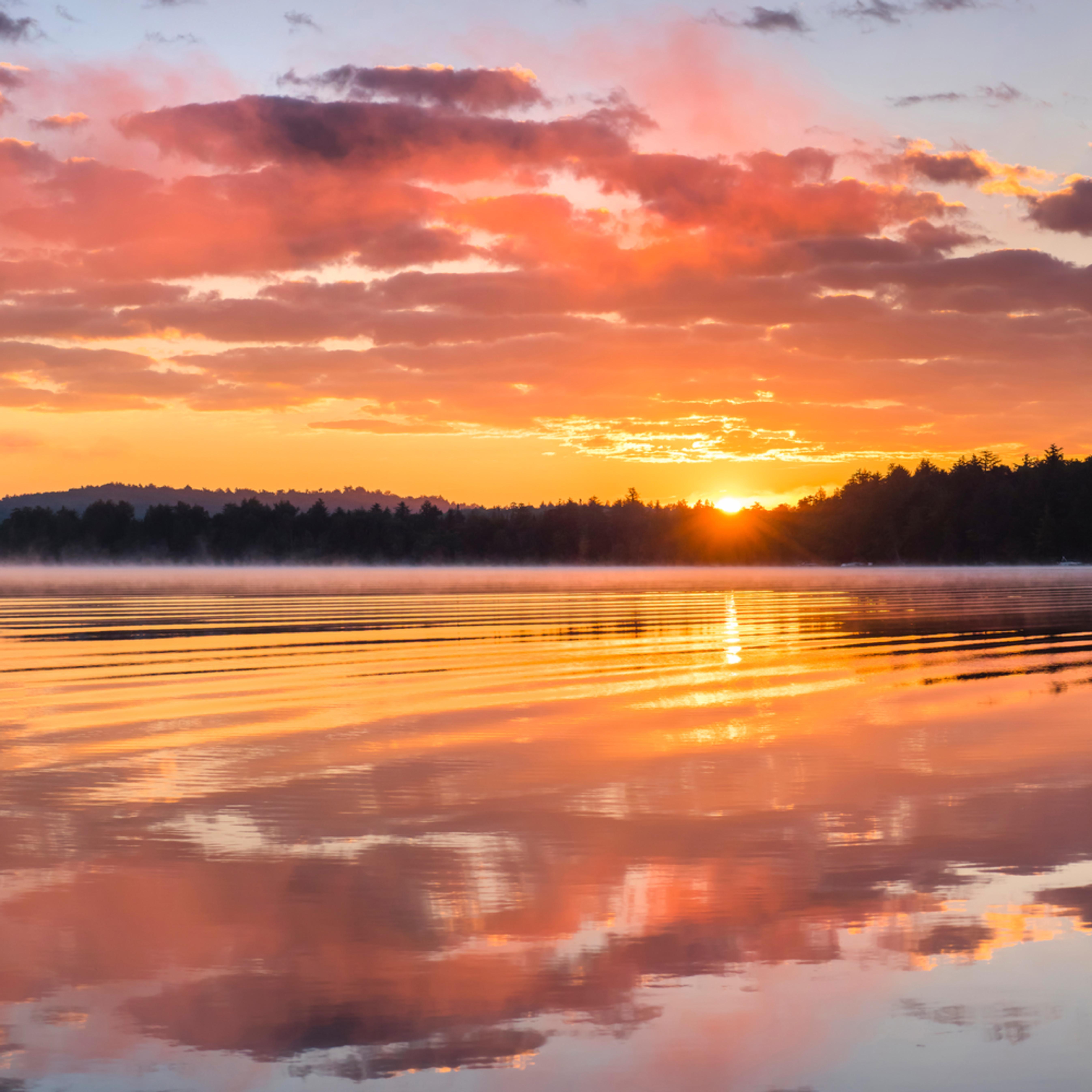 2nd lake sunrise 12x36 gkjhsf