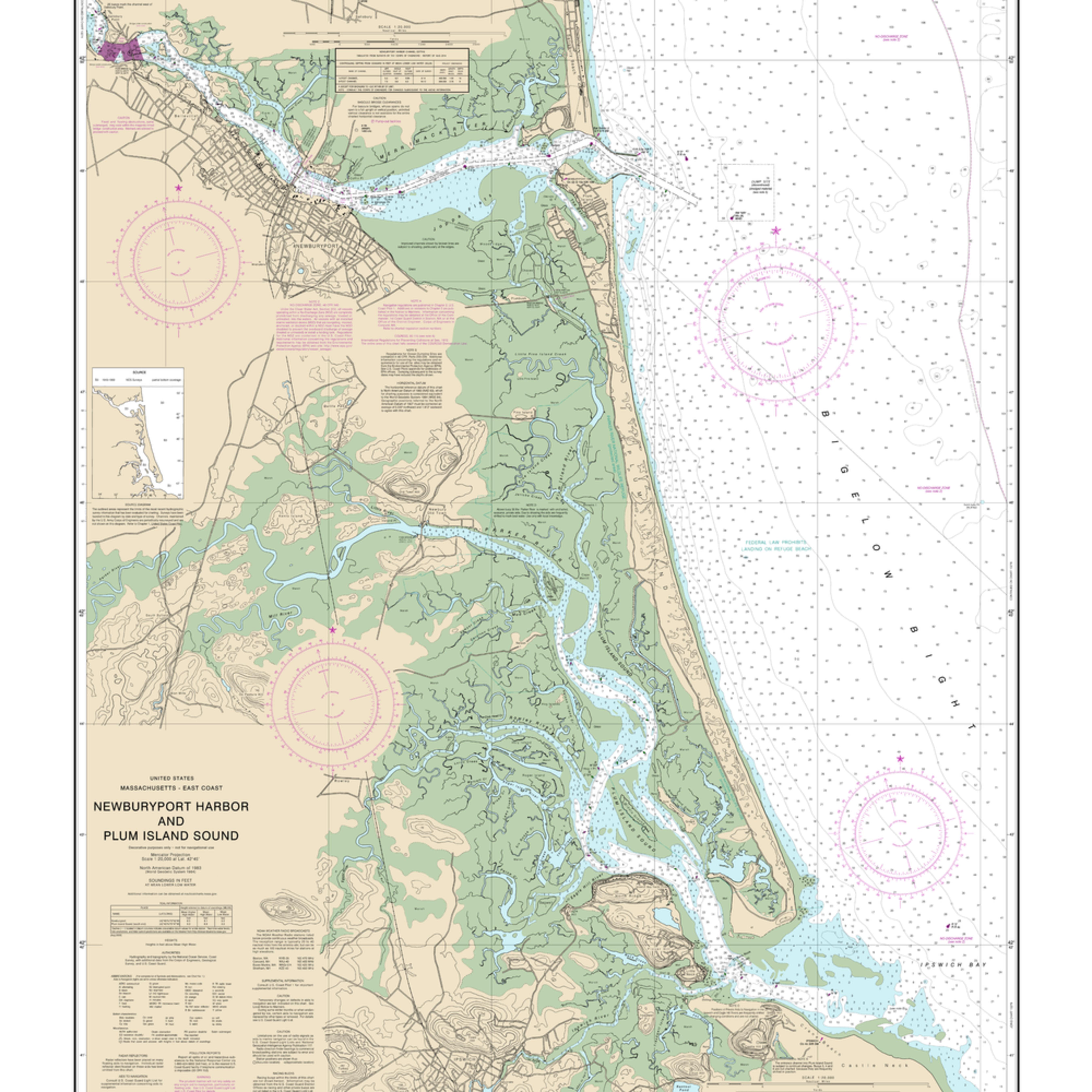 Nauticalmap 13282 newburyportharbor plumislandsound kedrzk