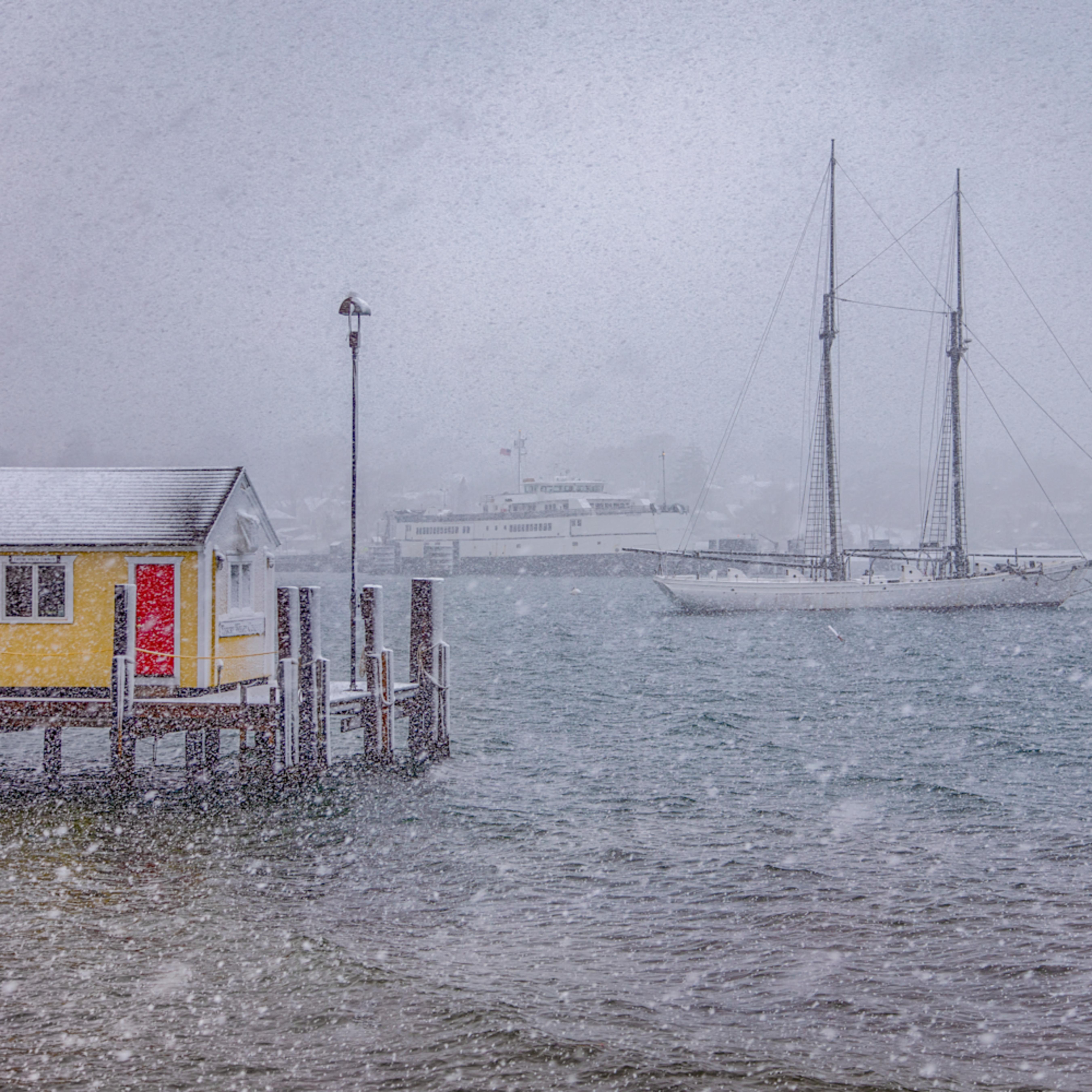 Tisbury wharf winter squall dj8k3c