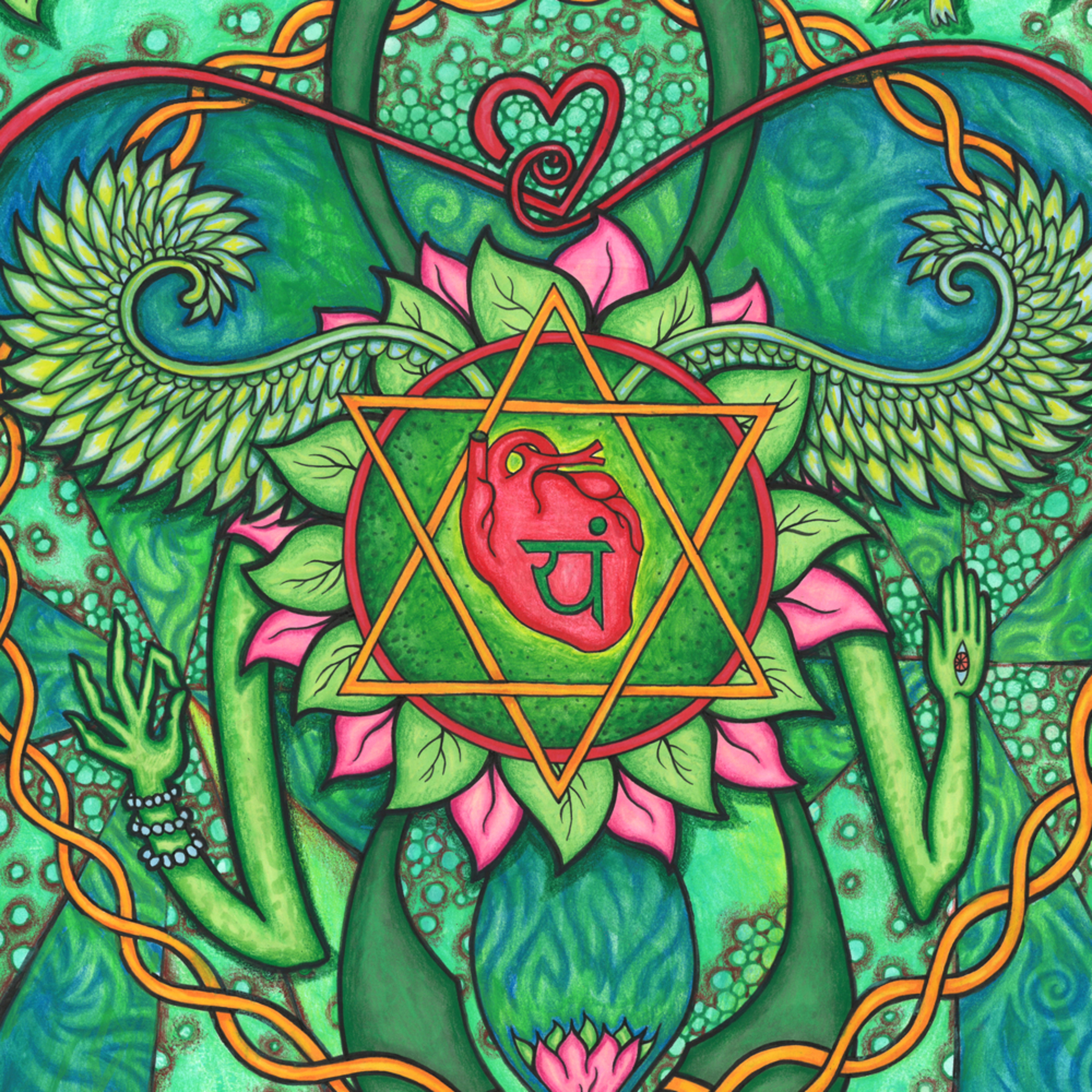 Heart chakra with color iumr7y