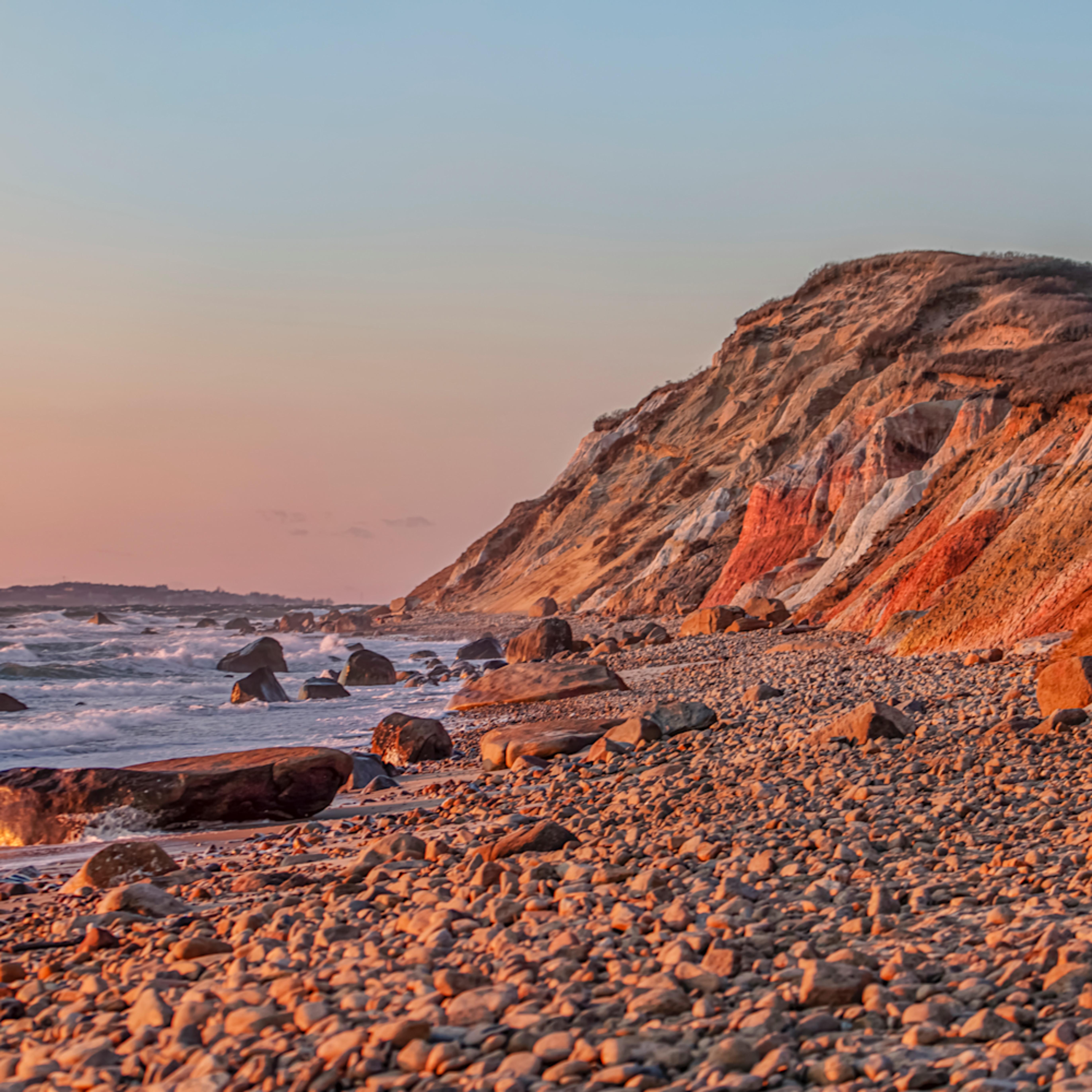 Gay head cliffs winter sunset nhzz1h