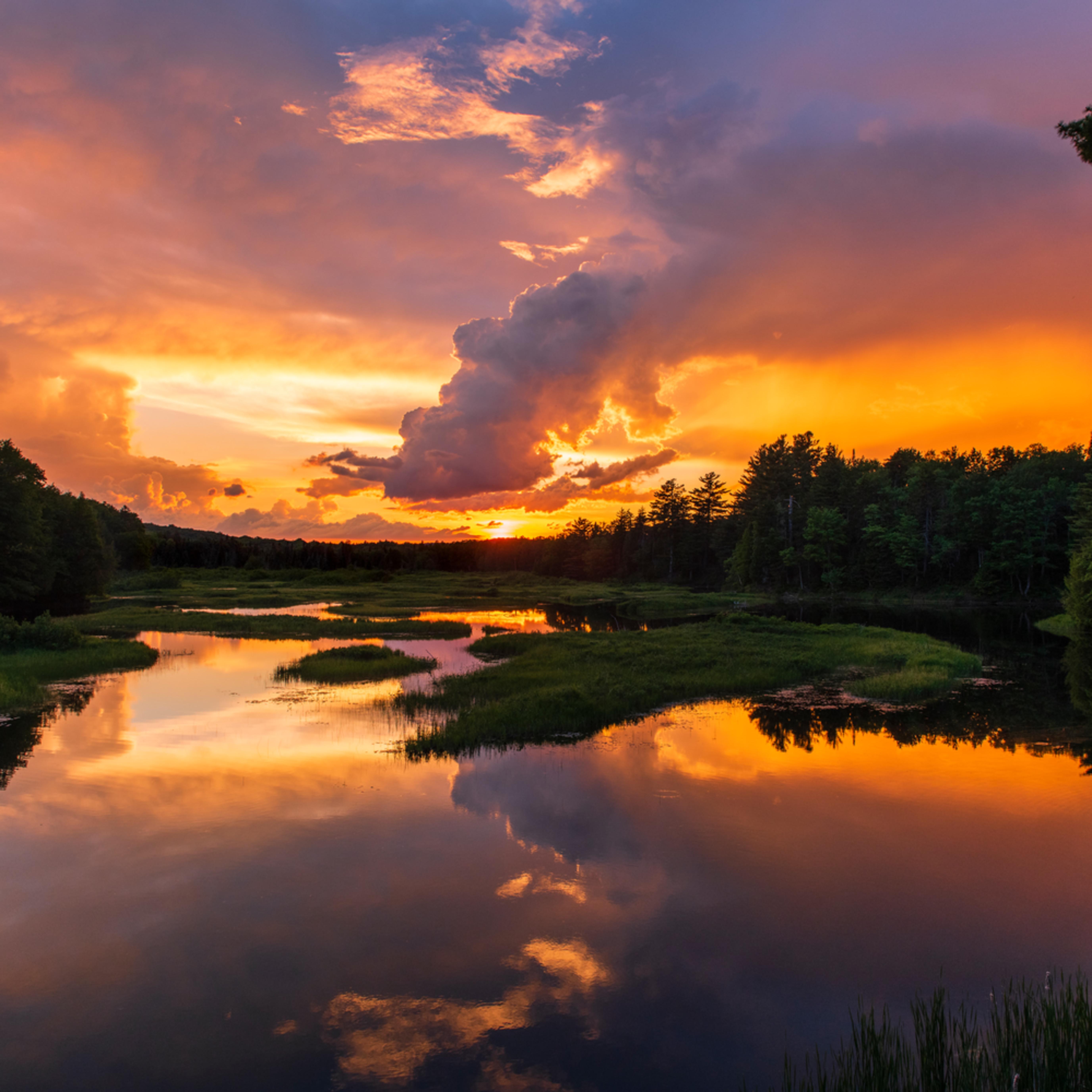 Moose river sunset orange di9i7y