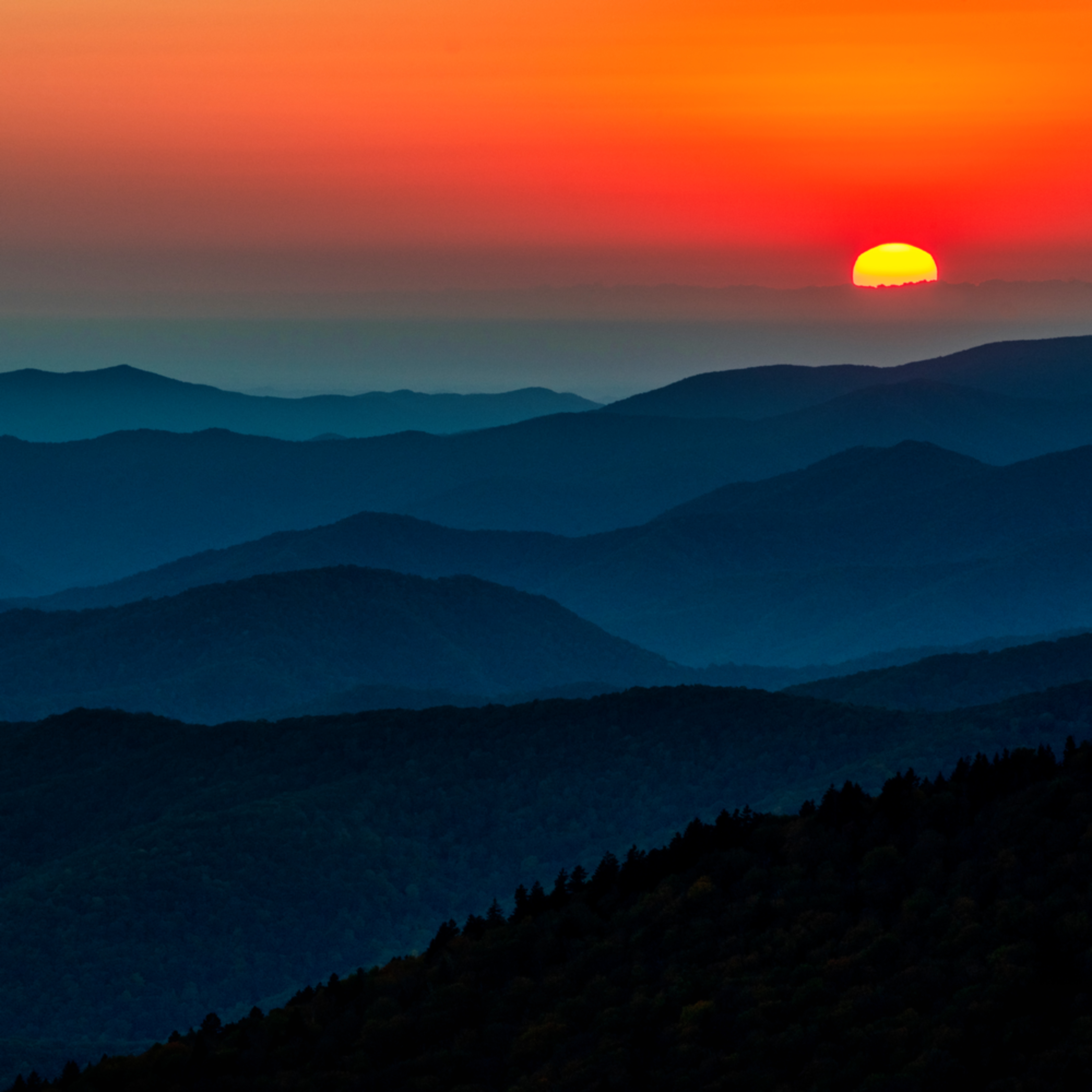 Andy crawford photography clingman s dome sunset caroru