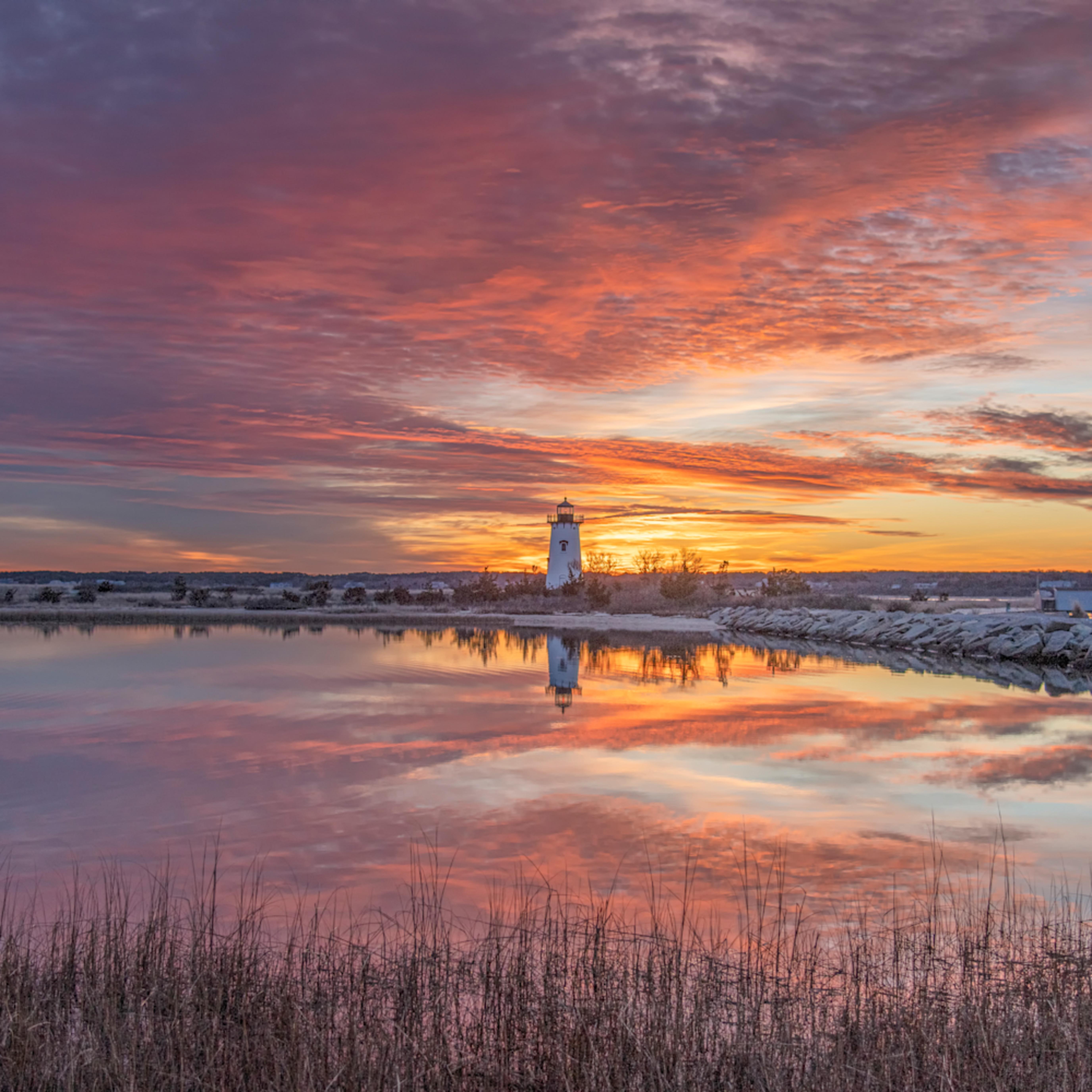 Edgartown light winter reflections obrf4h