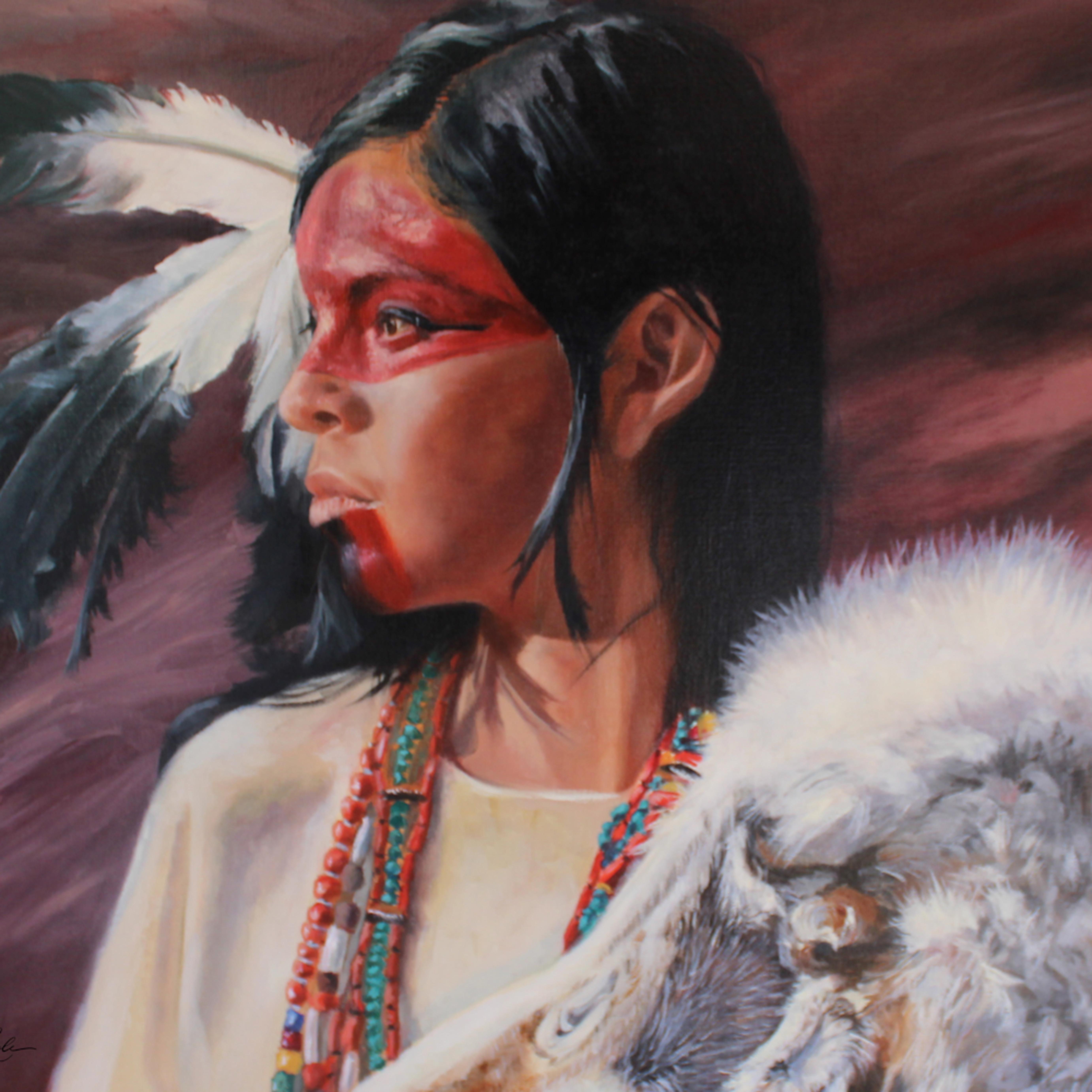 Warrior woman 24w x 18 h bssujy