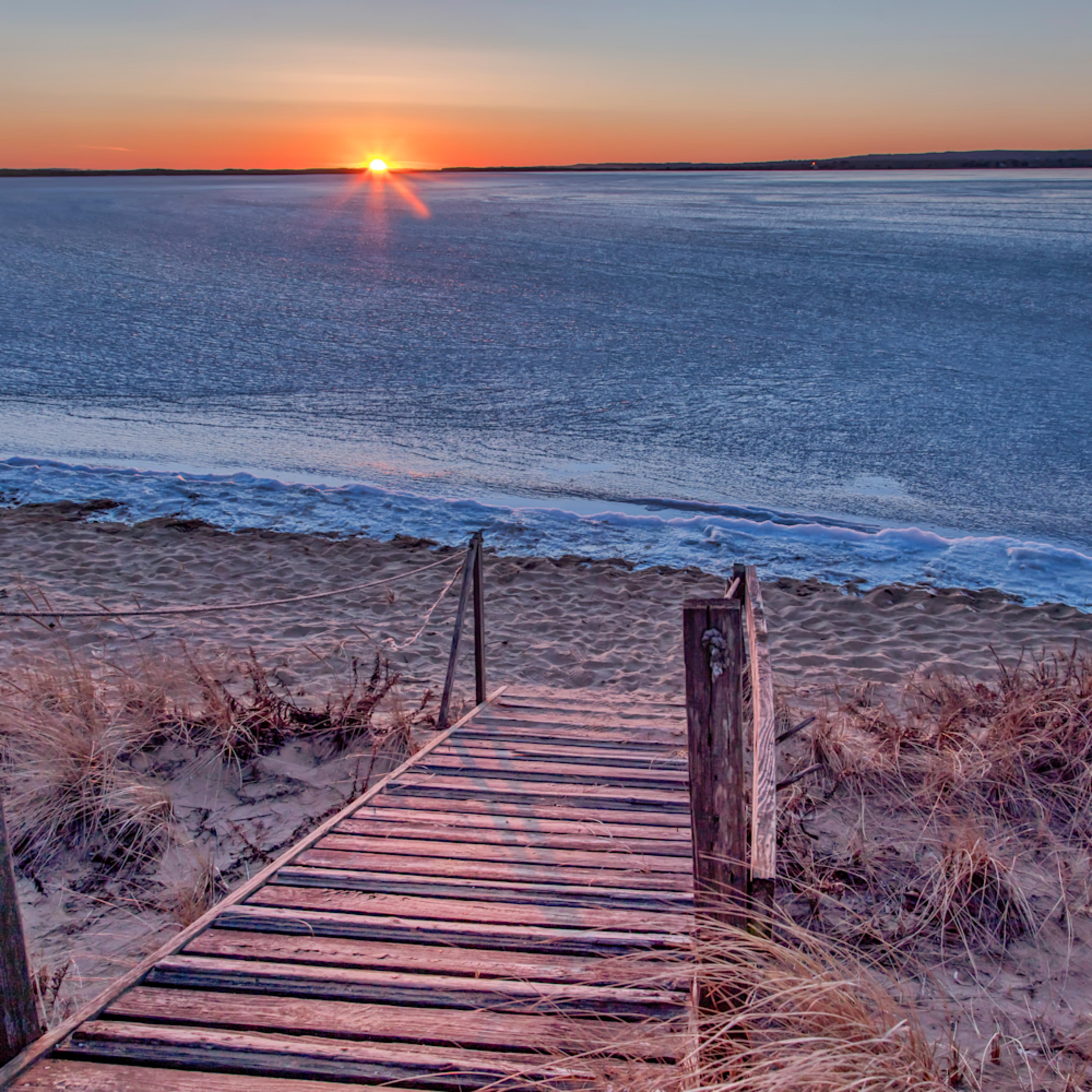 Long point frozen sunset vysw7q