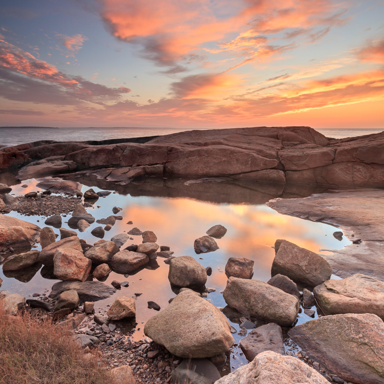 Hazard rocks tidepool narragansett sunrise o0b8xs
