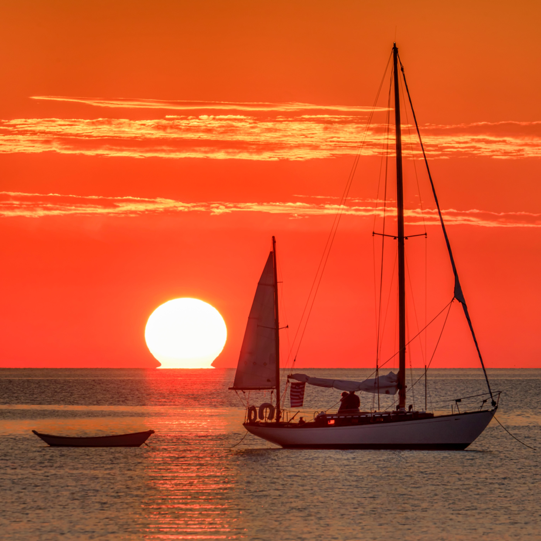 Sailboat sunrise state beach nueics