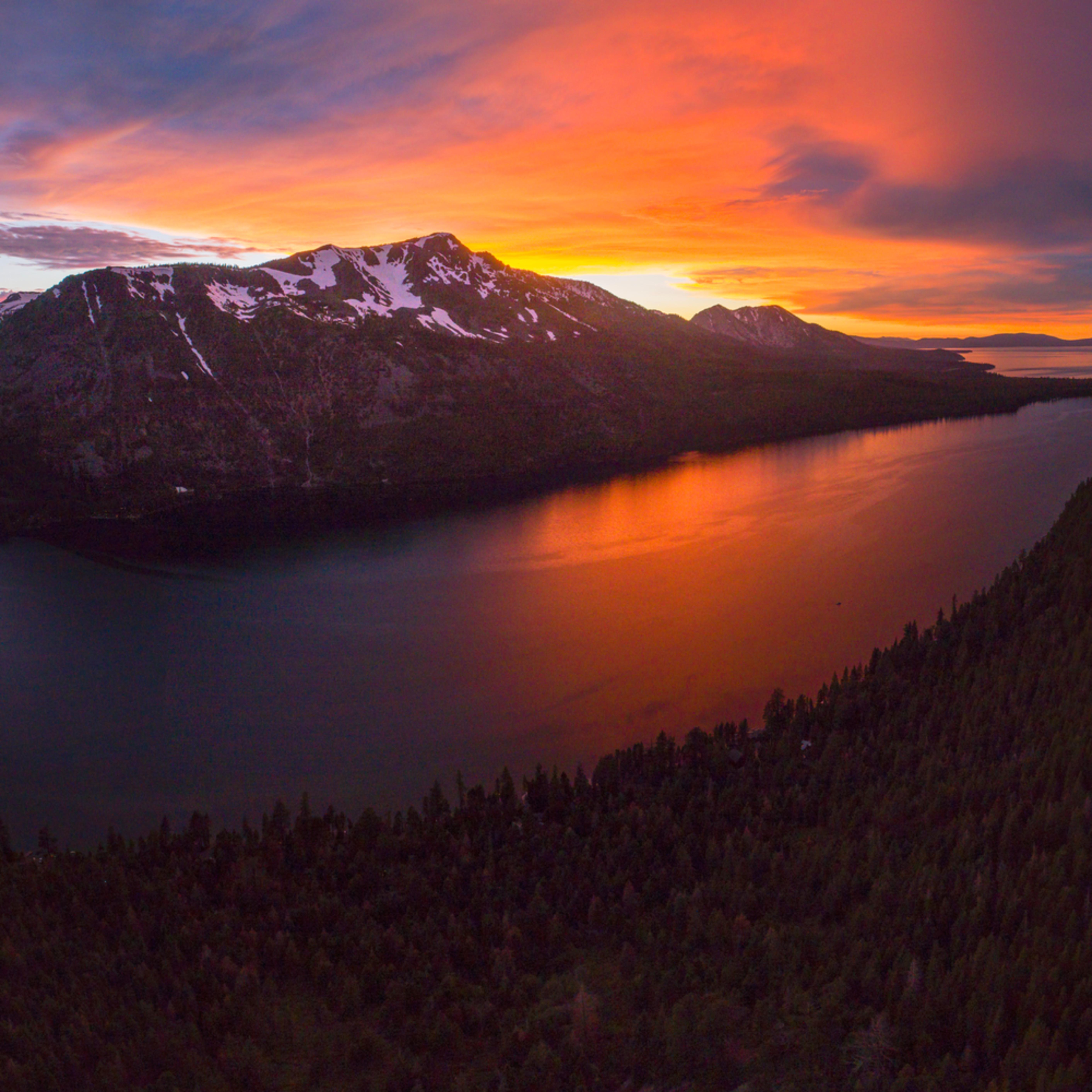 Fallen leaf lake sunset aerial 2 6 18 nlhvuj