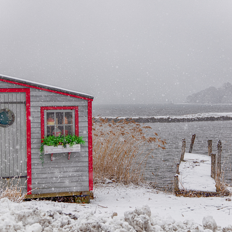 Lagoon pond clam shack snow wfyfot