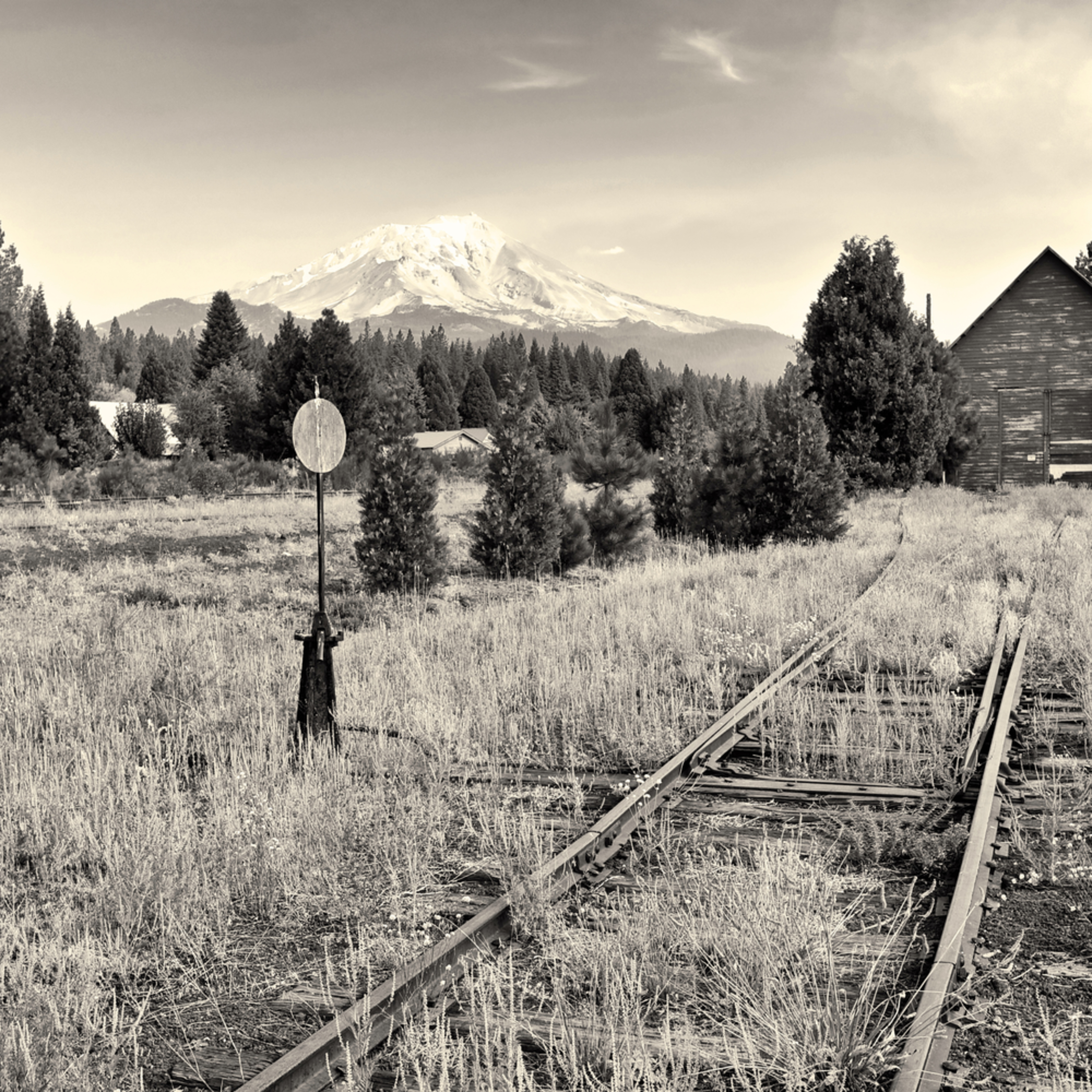 Mt shasta from mccloud rr tracks california oefe71