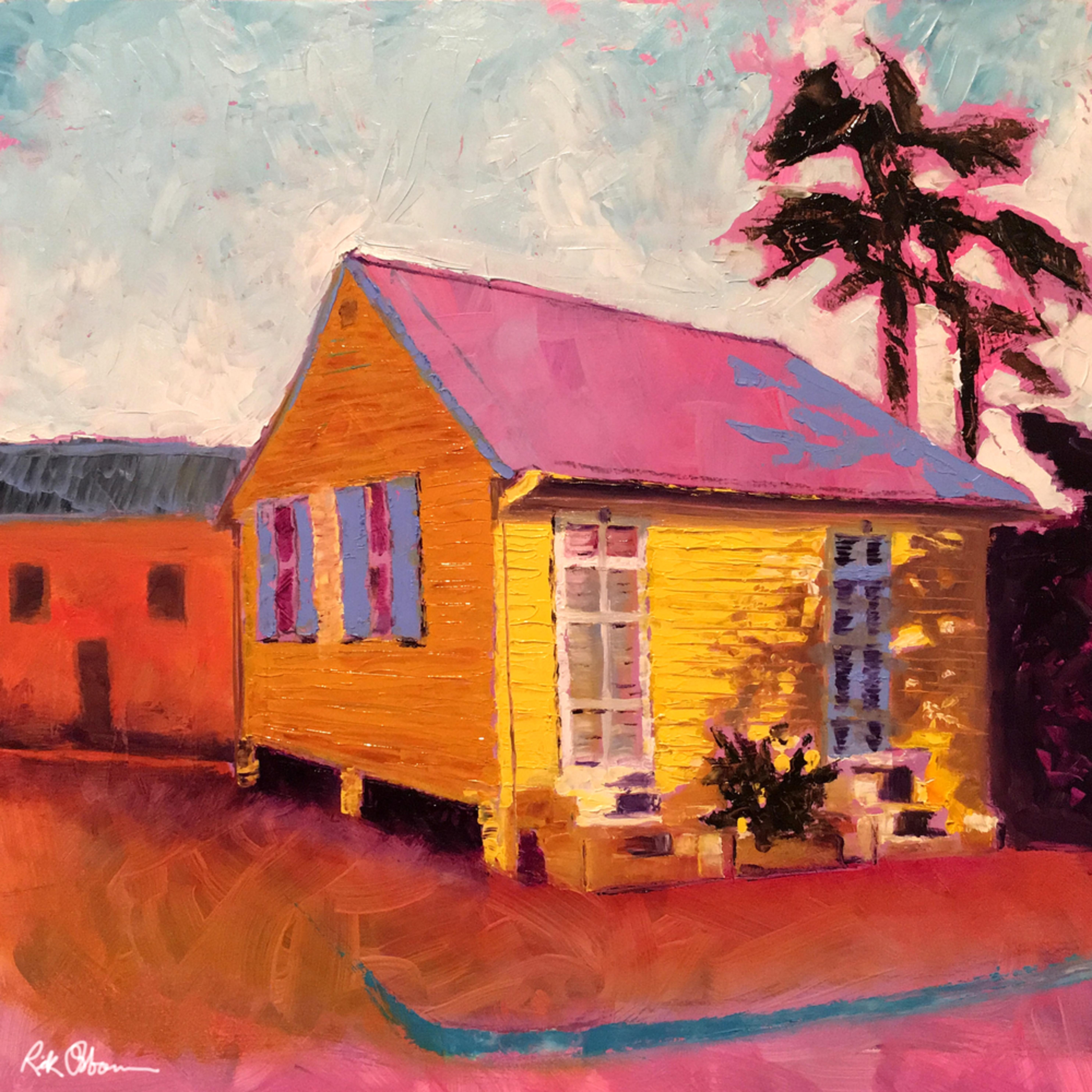 Old yellow creole house znak8k