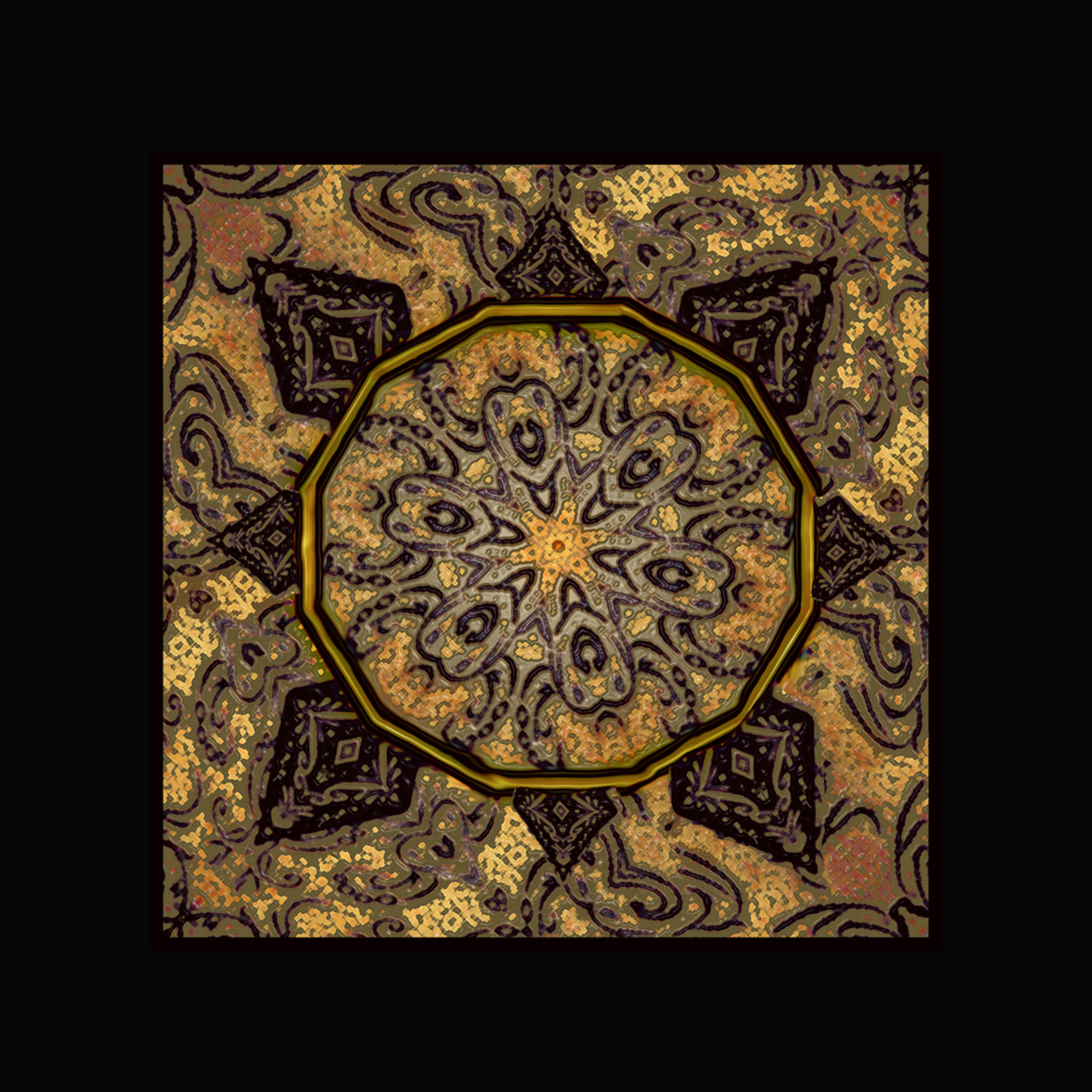 Golden day mandala large nc4mnh