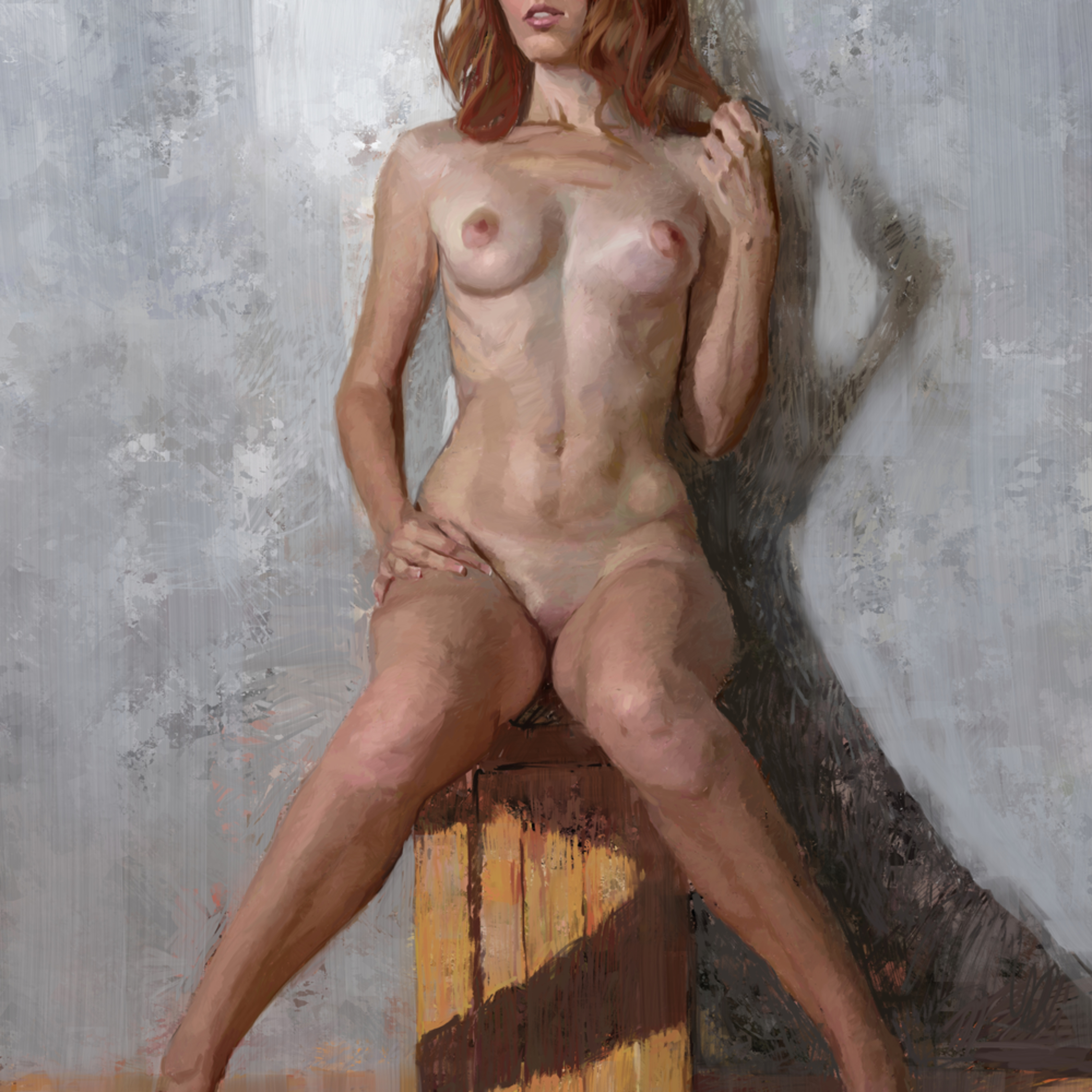 Nude on a box 30x20dig iypkgp