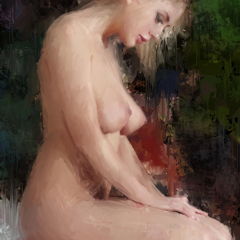 Kneeling woman  dig lvf1vj