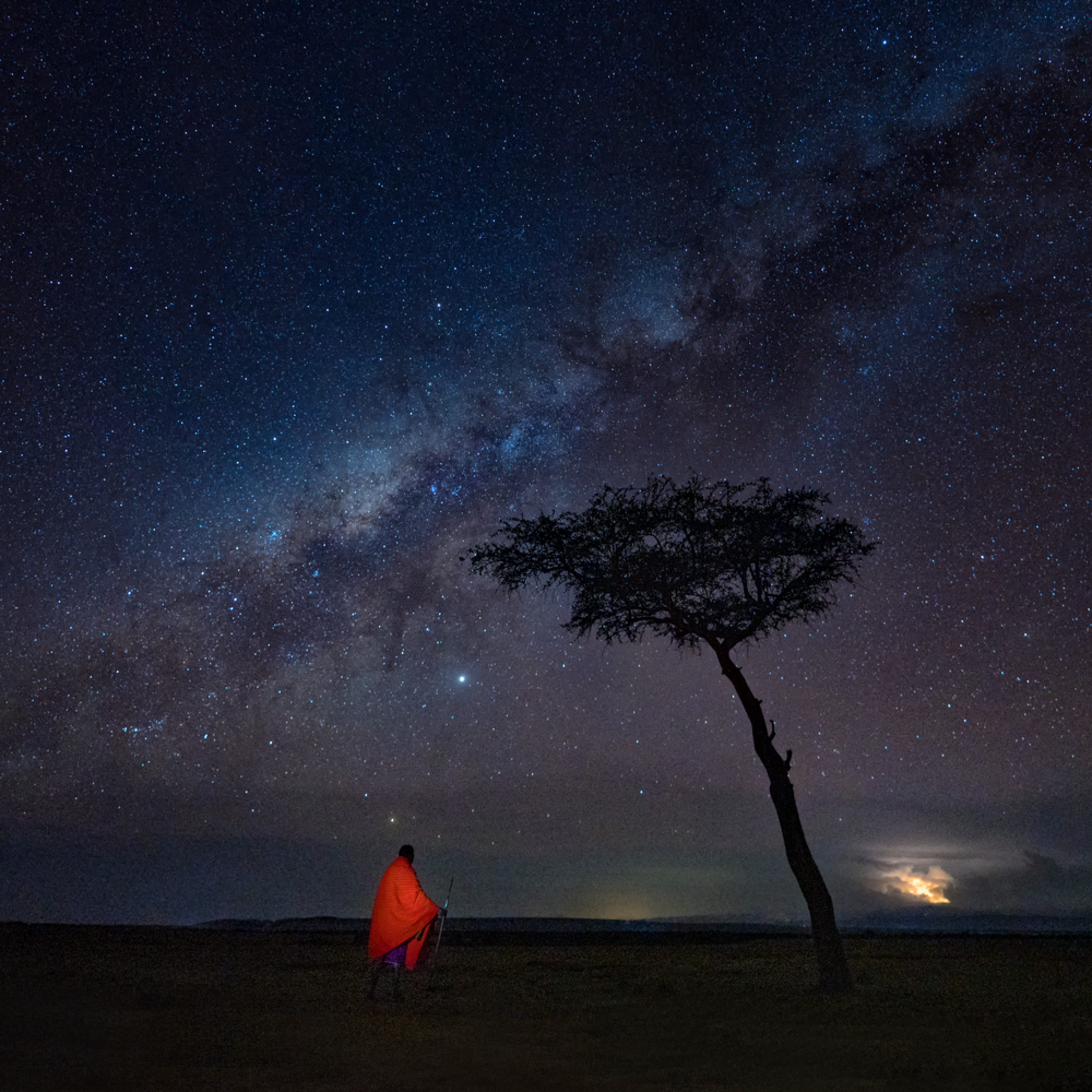 Milky way over the maasai mara wkeb50