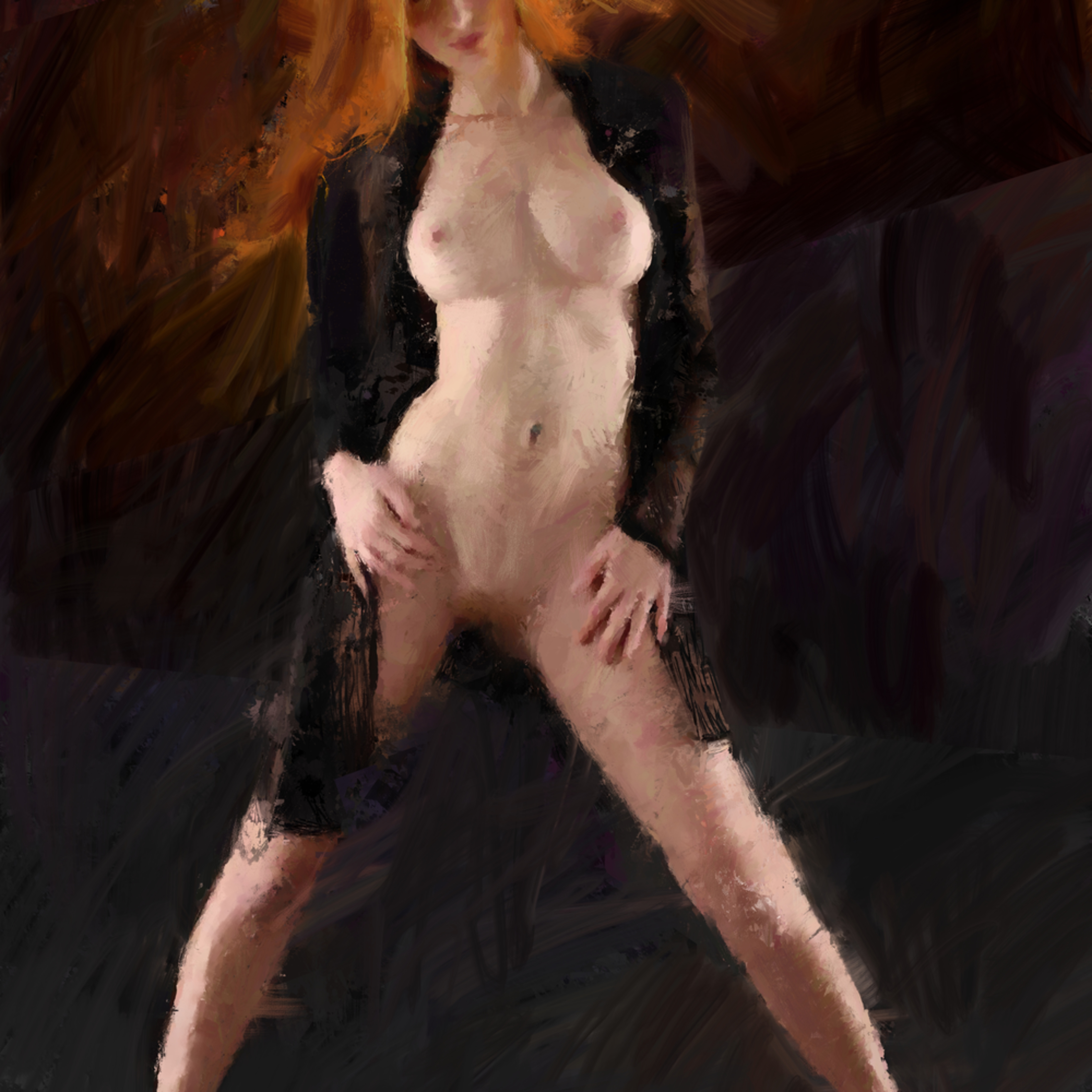 Ginger in black digital hdgqzl