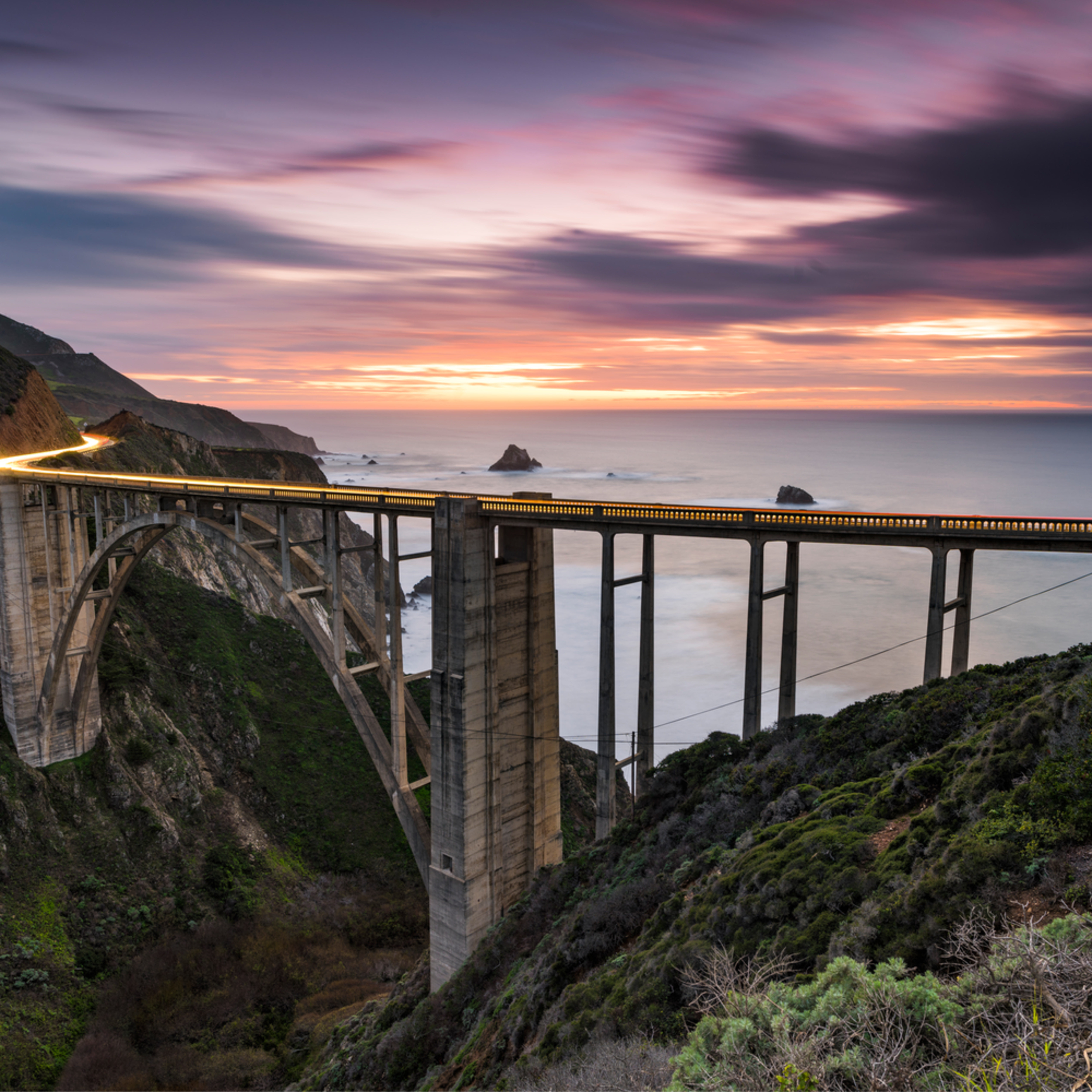 Bixby bridge sunset dnaina