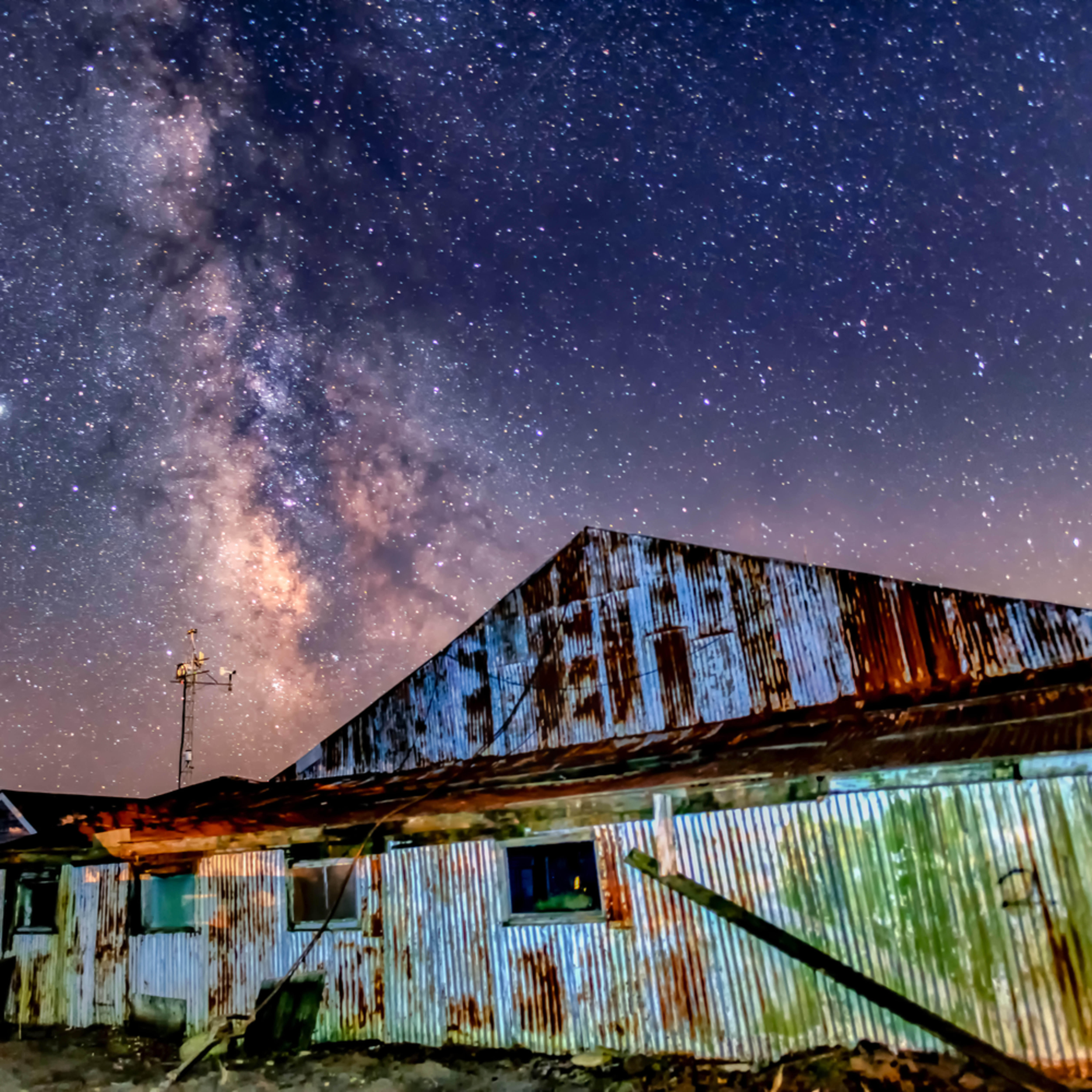 Katam airfield hangar milky way isycxp