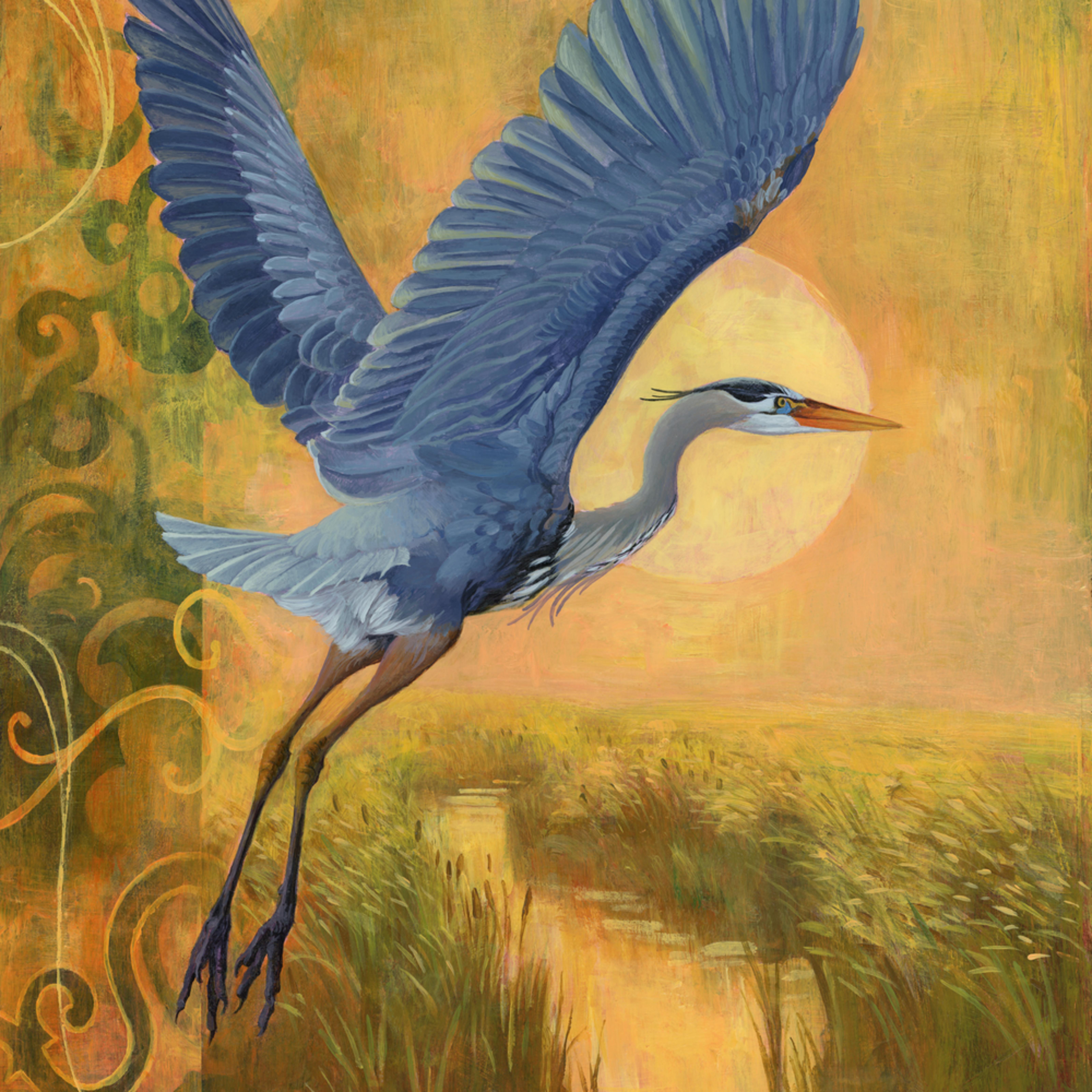 Blue heron painting l83gdx