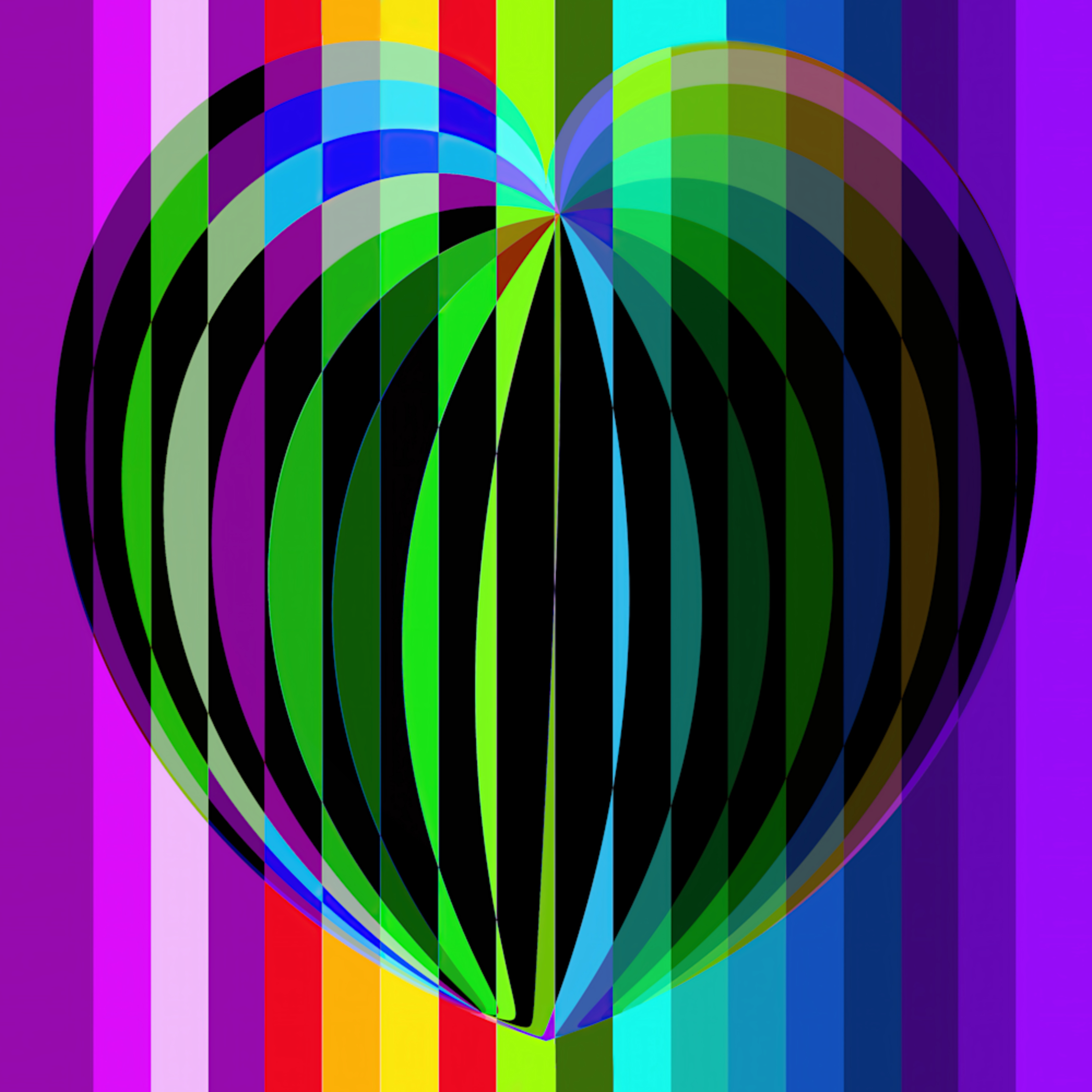 Prismatic heart ha5ded