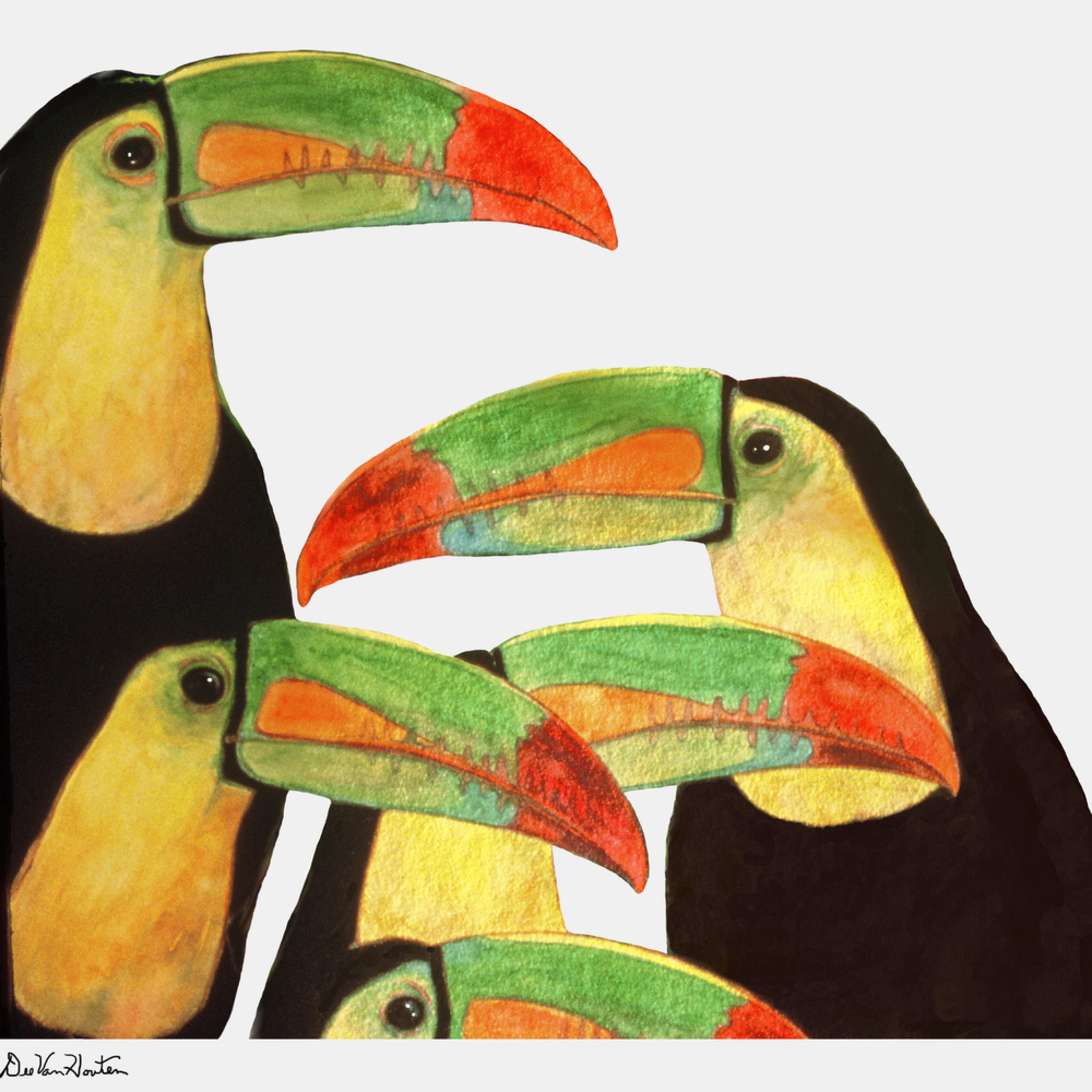Dee van houten toucan rendezvous giclee 2020 odimzg