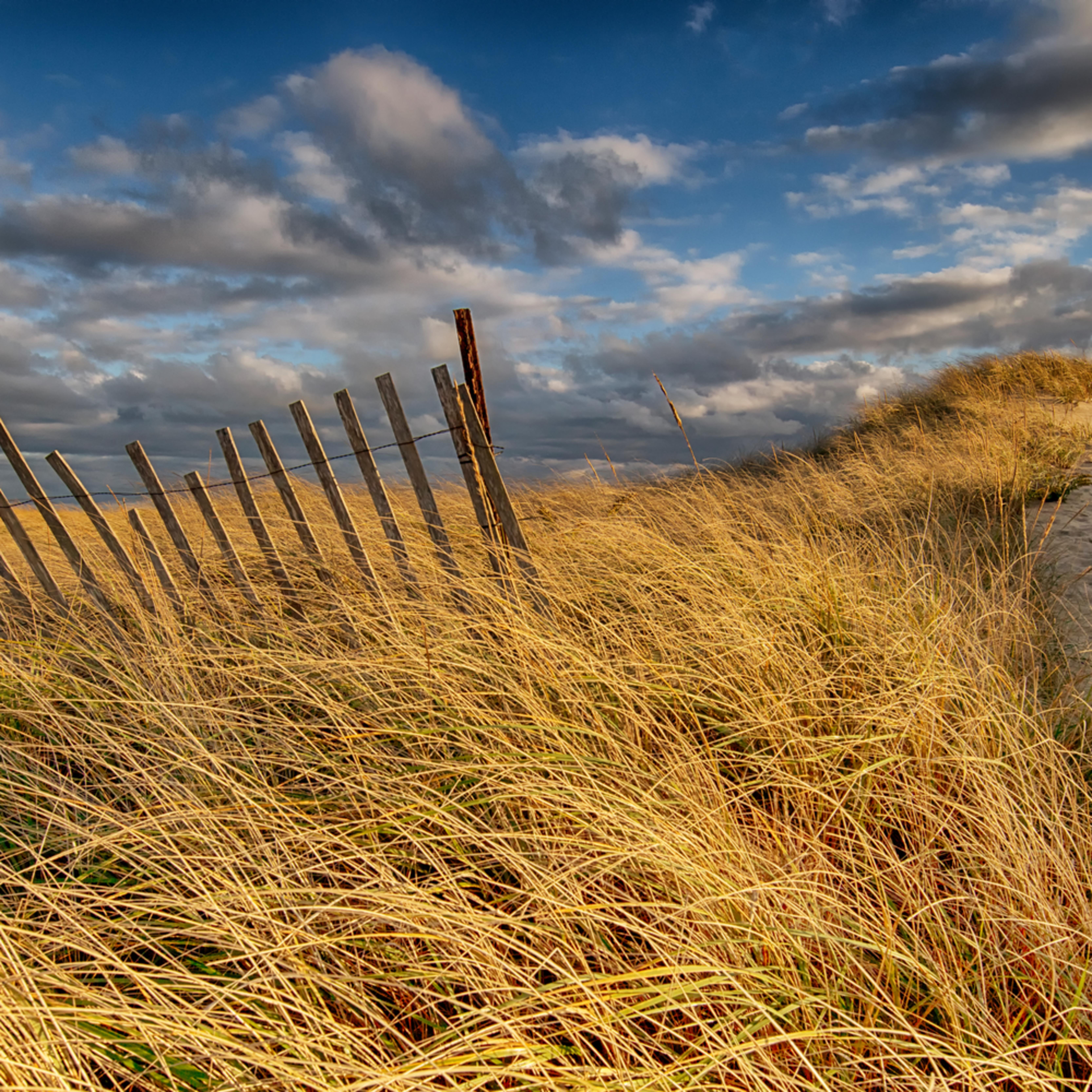 South beach snow fence sunset xv8yzs