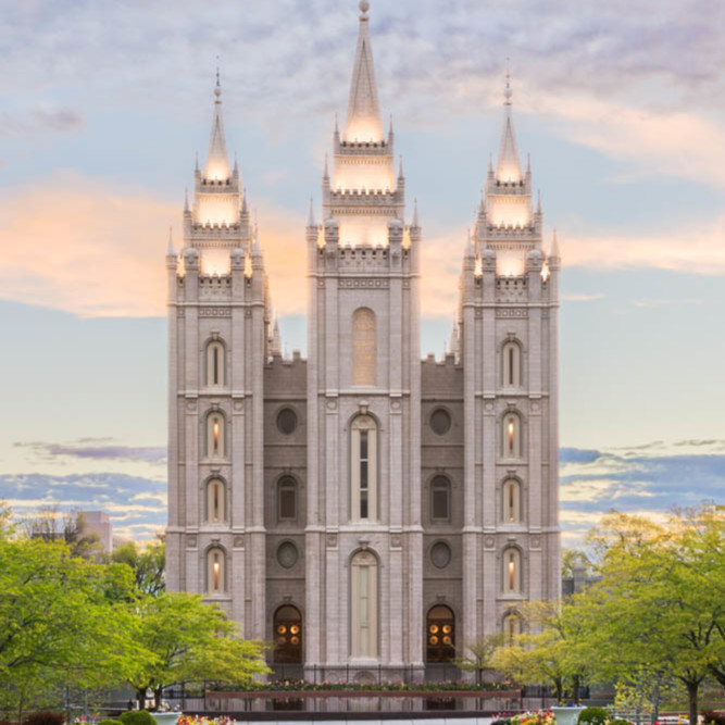 Salt Lake City Spring: Salt Lake City Utah Temple