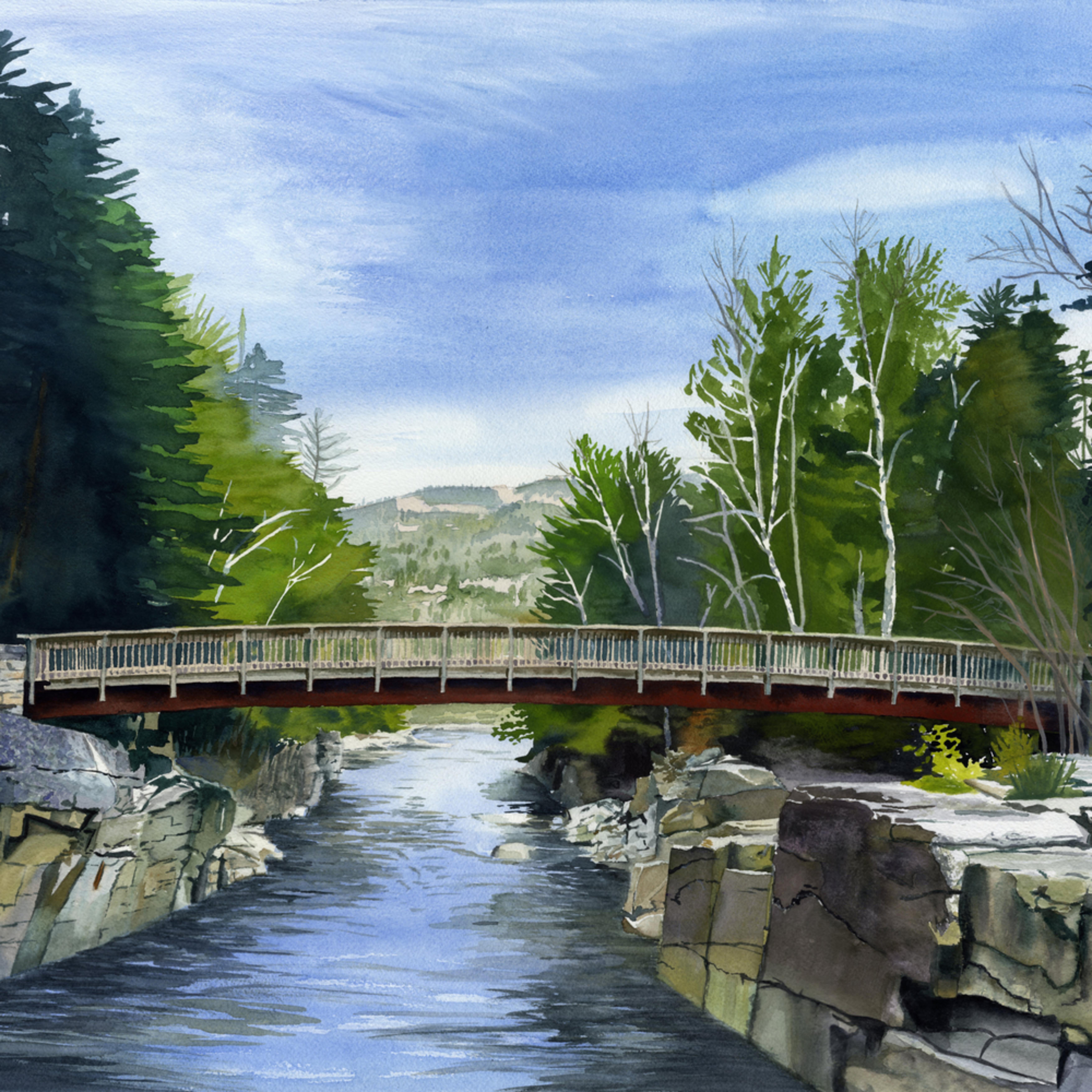 Walking bridge asf print d0on9a