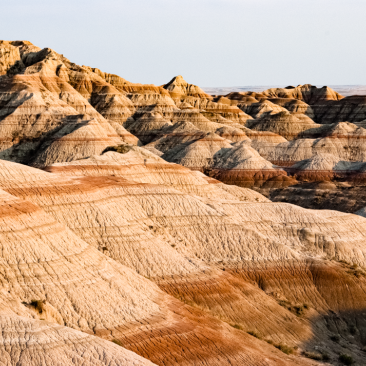 Badlands strata late afternoon l9bp3p