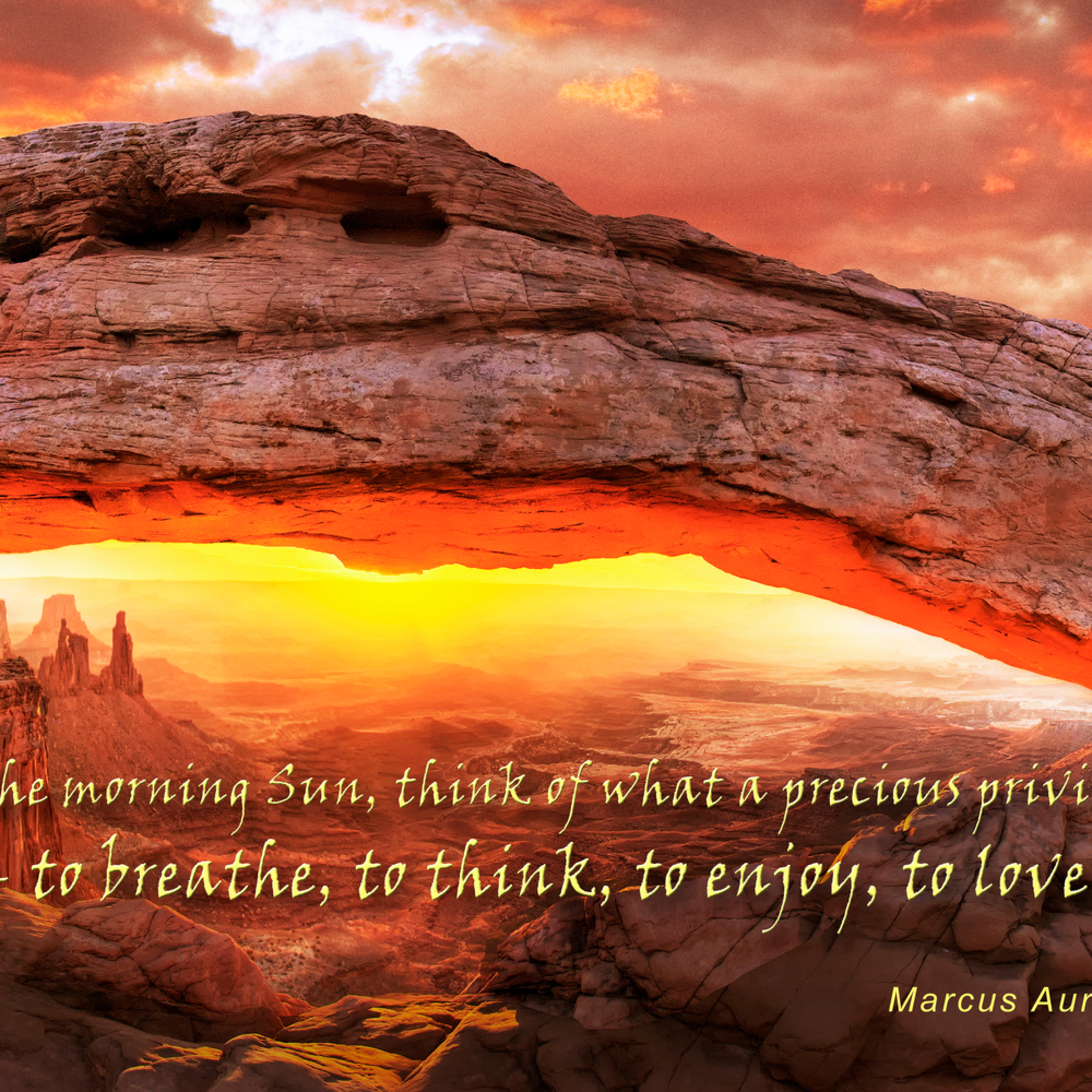 Mesa Arch Sunrise Canyonlands National Park Utah