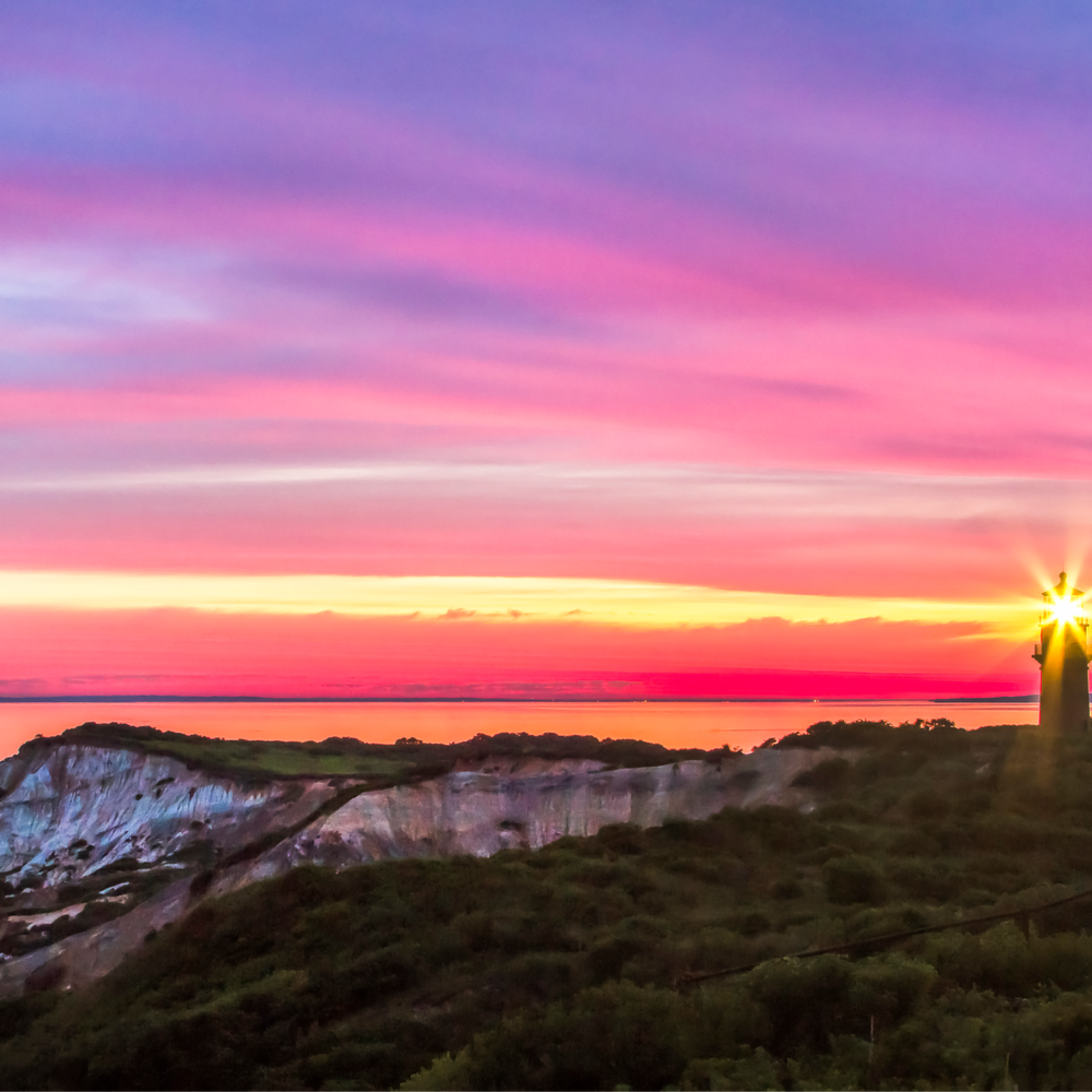 Gay head light magenta sunrise cmljrr