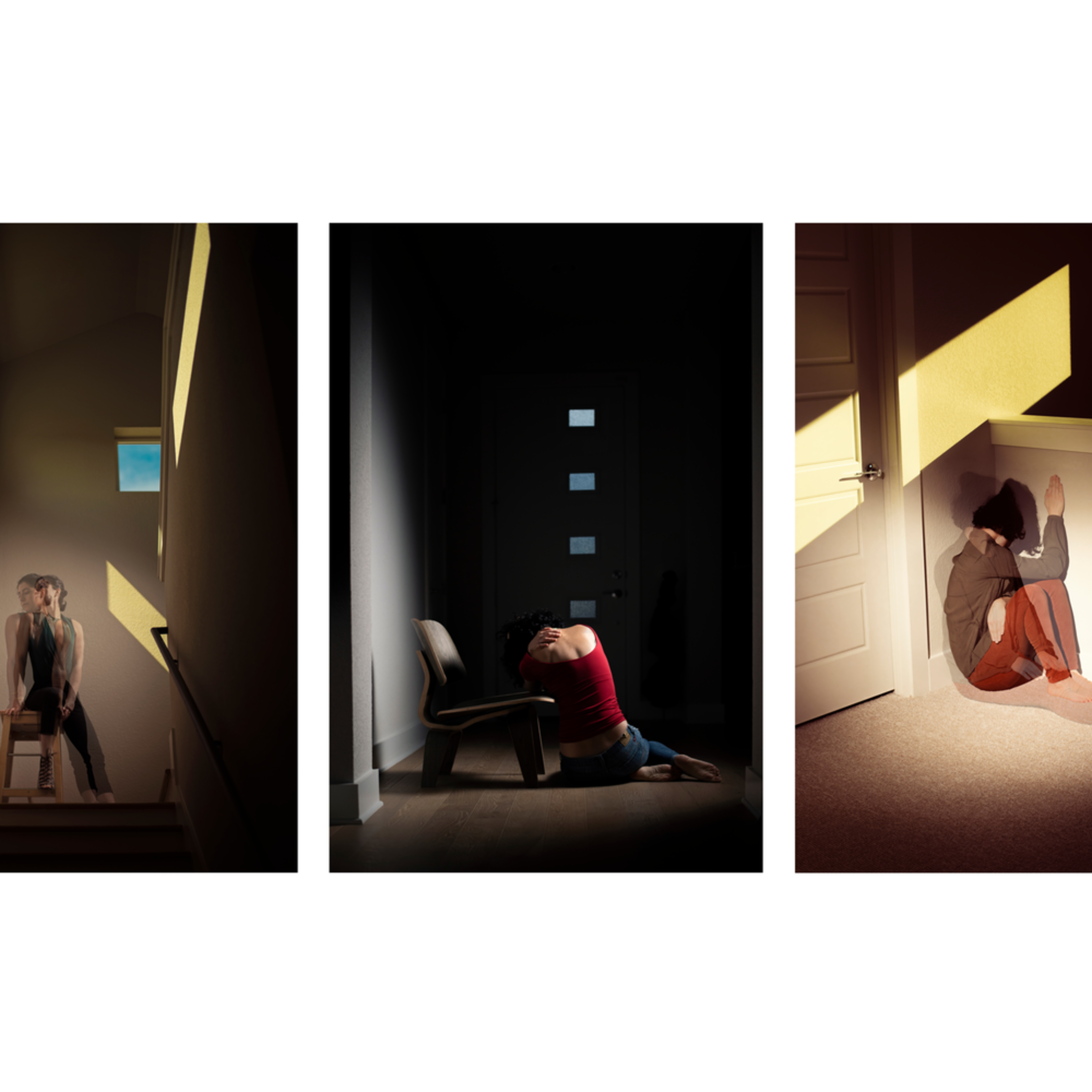 Detached triptych abstract portrait photography fine art print silvia nikolov lsmdsr