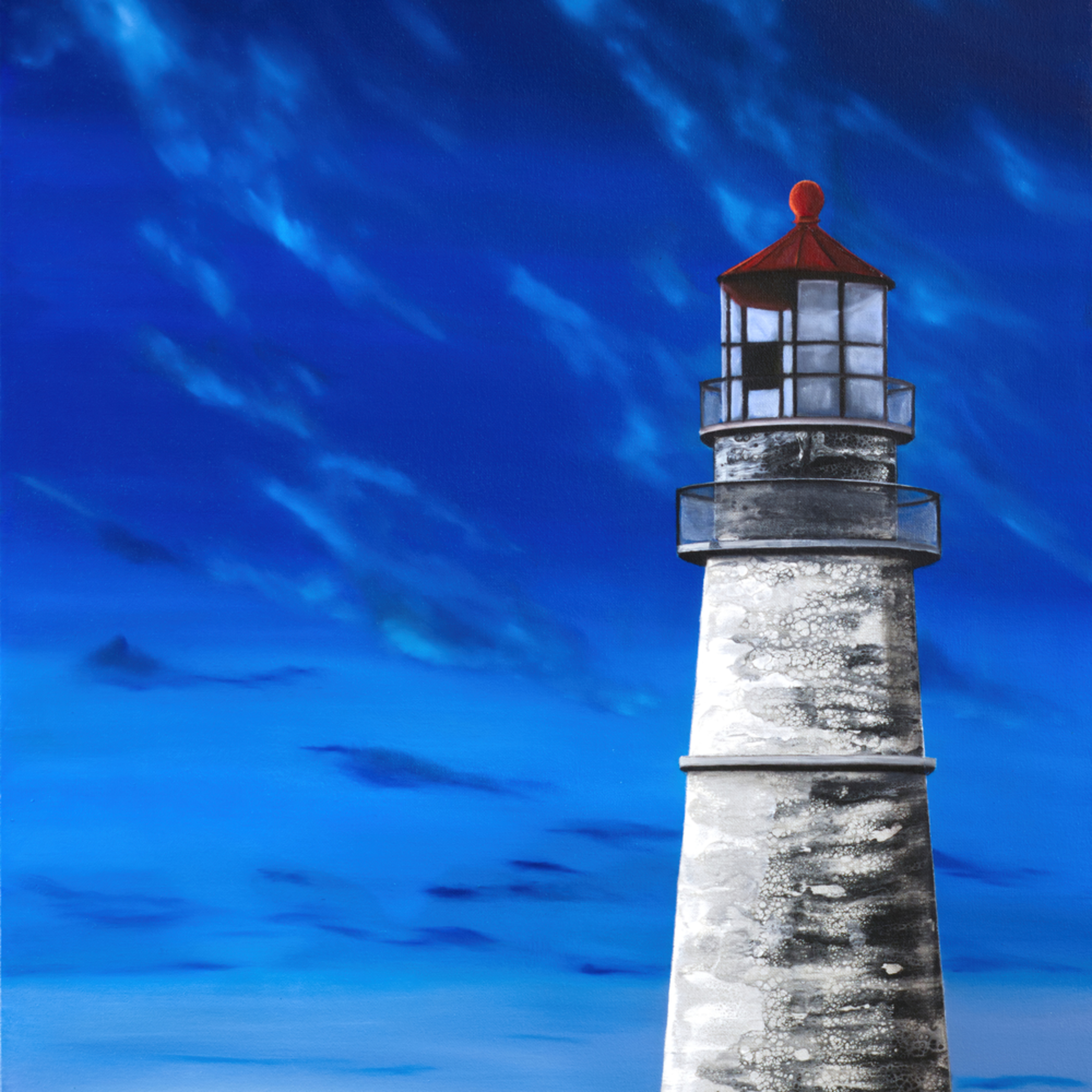 Evening lighthouse print1 qziabk