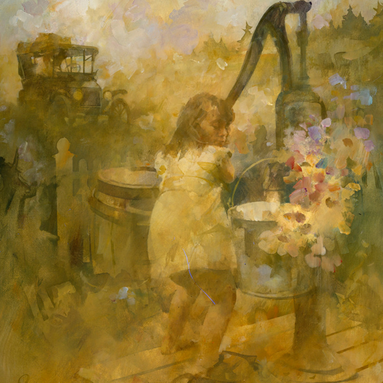Girl with water pump ao88jr