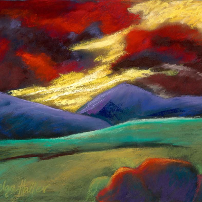 Red sky evening g2q6kw