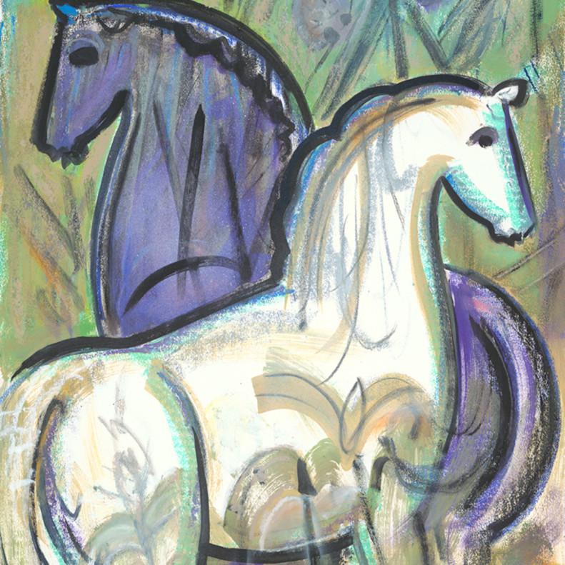 Horses in the pines ycniun